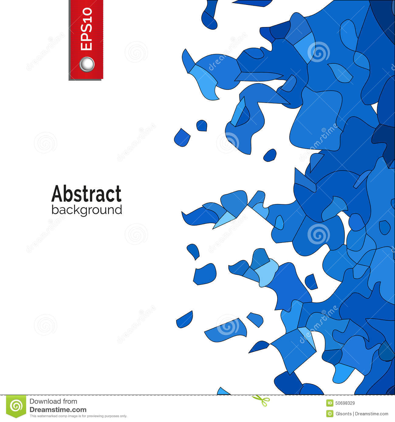 Vector Abstract Background Template For Corporate Identity Advertising Poster Event In Blue Color Contemporary Element