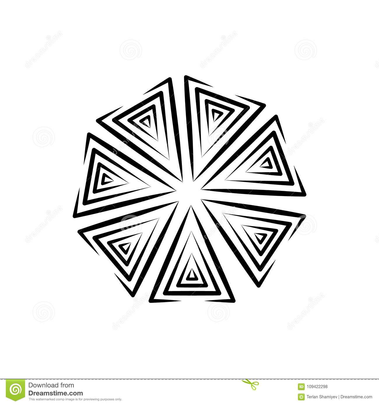 0e7bac4006f72 Vector abstract background with triangle. Isolated on a background