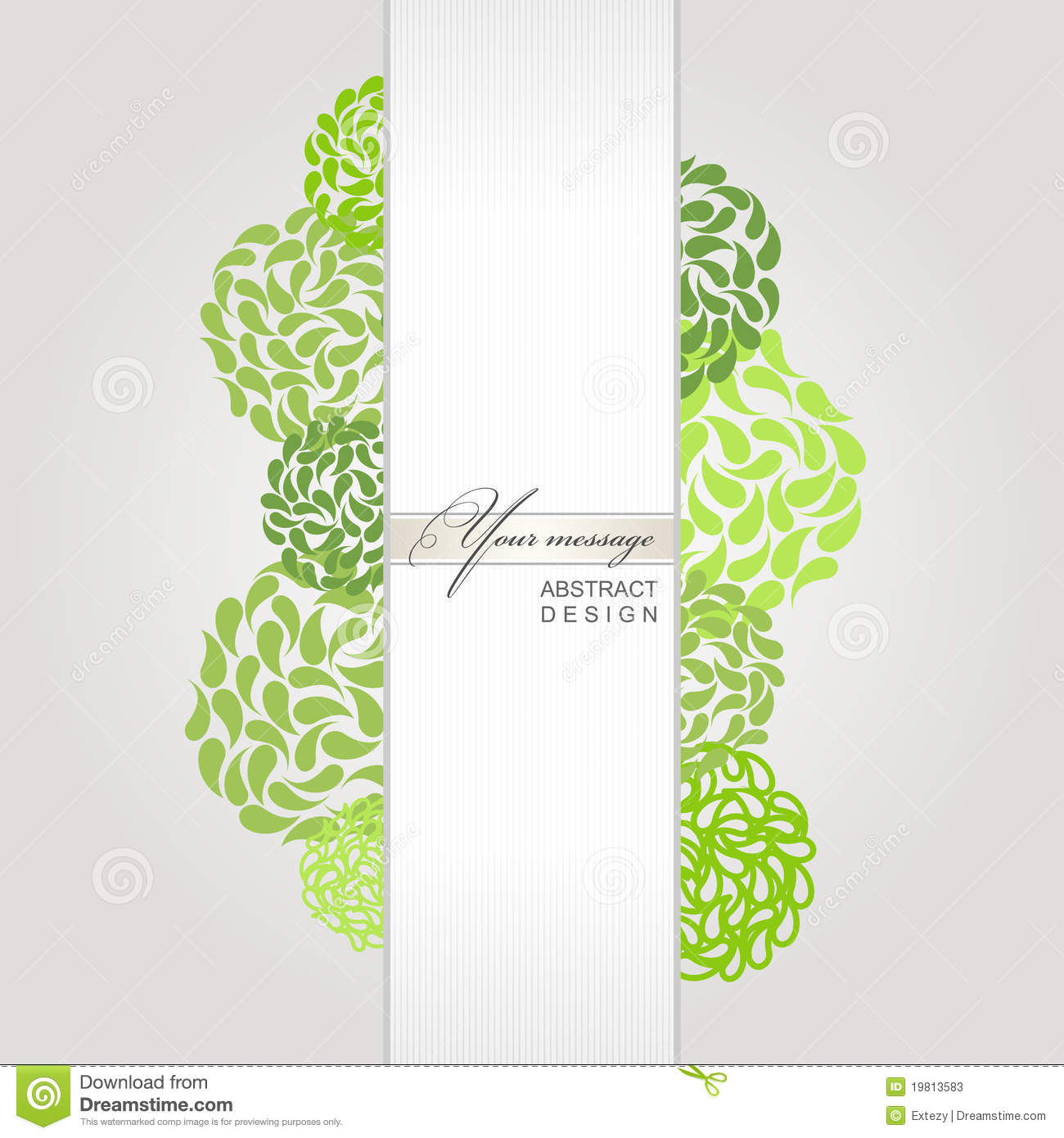 Vector abstract banner green background