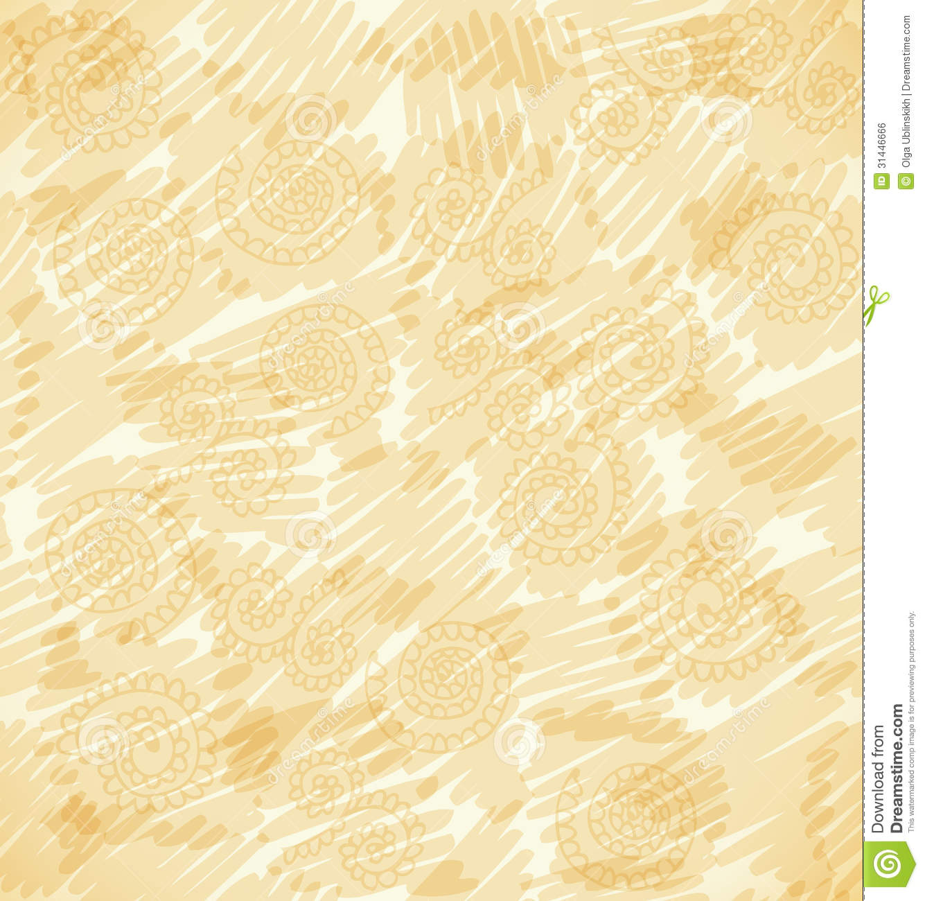 Vector Abstract Beige Background. Sketchy Doodle S Royalty Free Stock ...