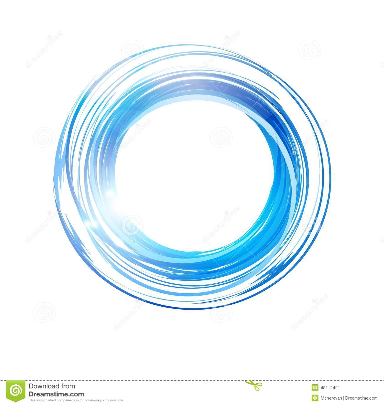 Vector Abstract Blue Circle. Banner, Logo Design Template