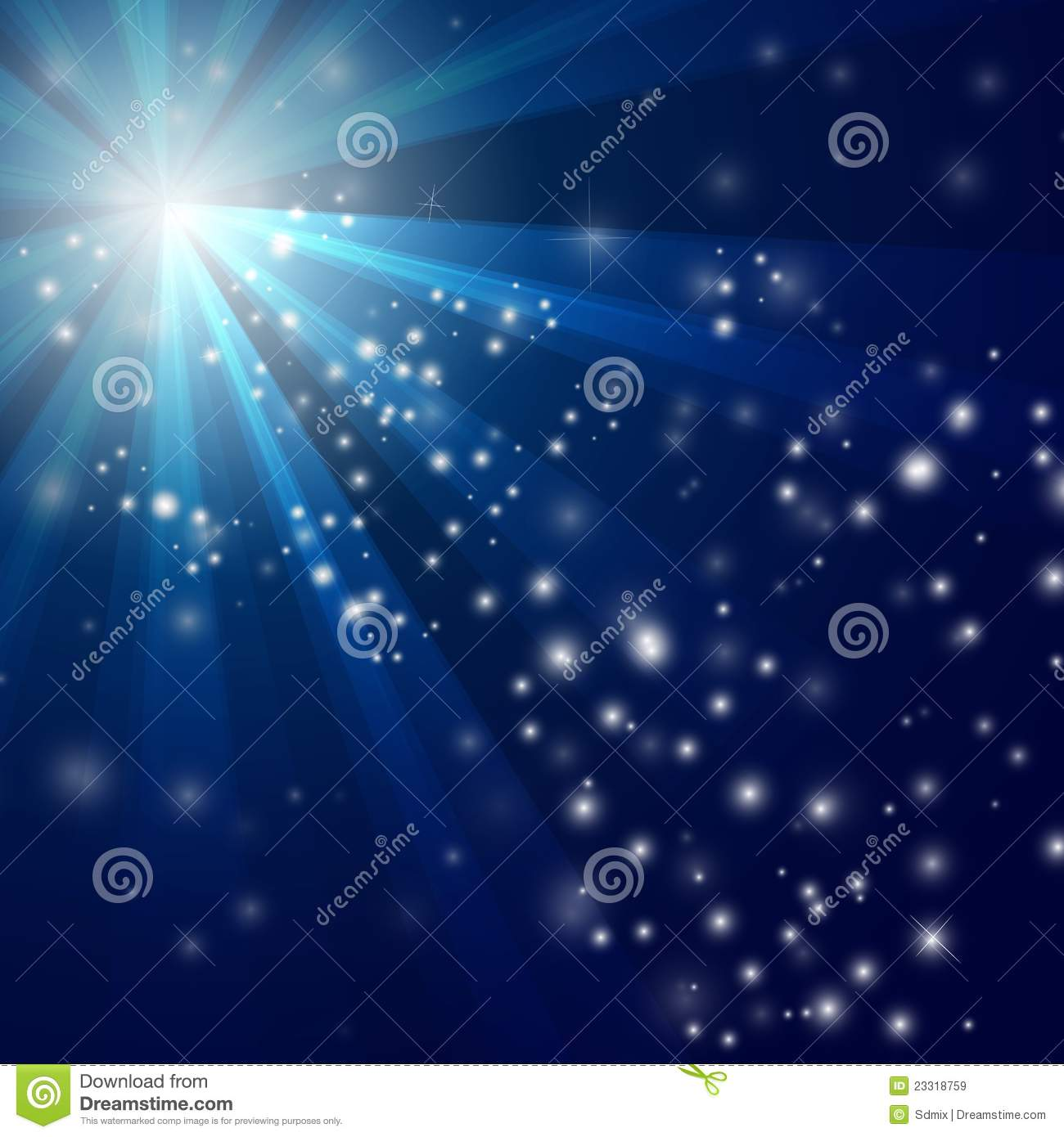 Vector Abstract blue Light background