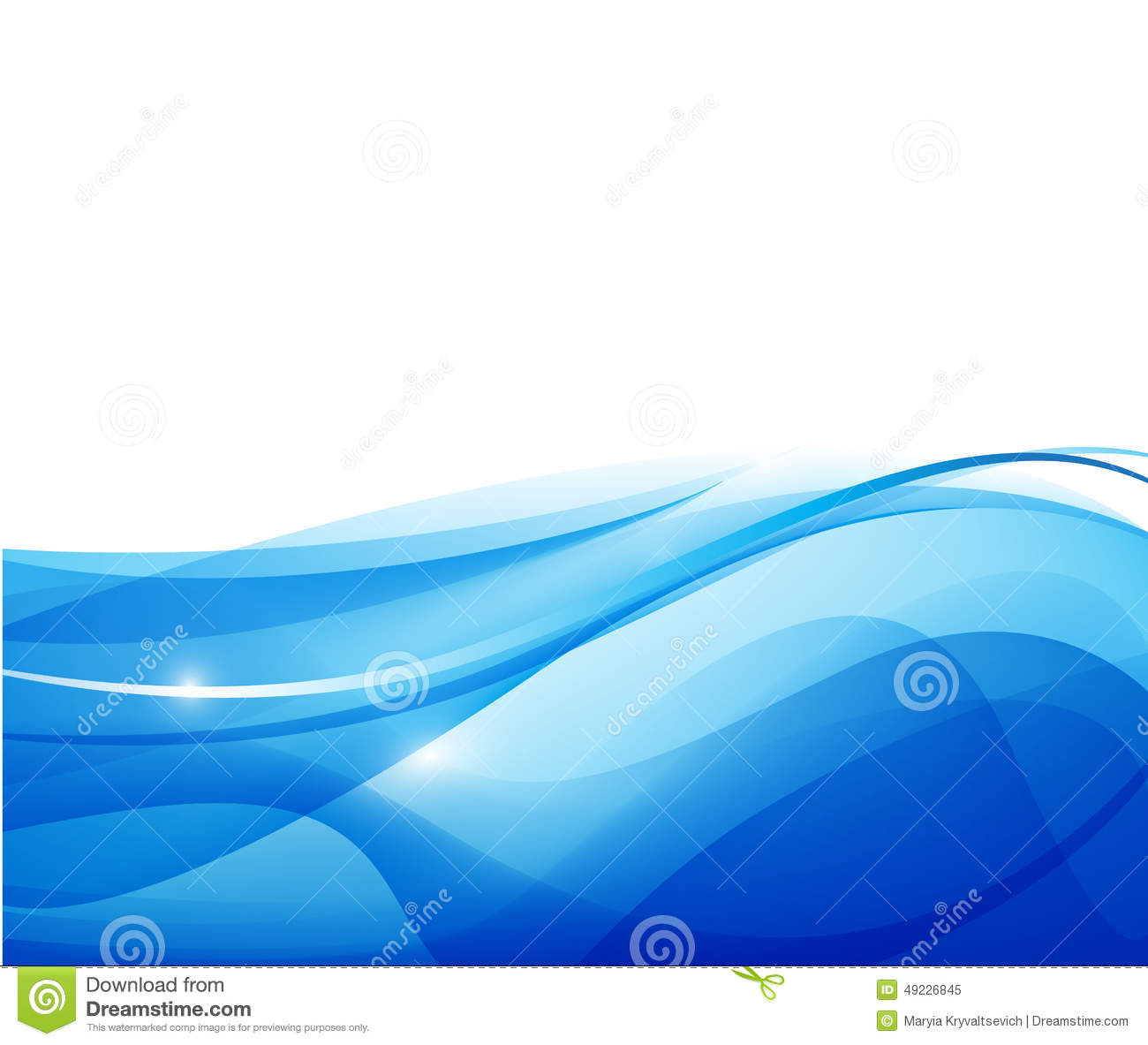 Vector Abstract Blue Wavy Water Background Stock Vector