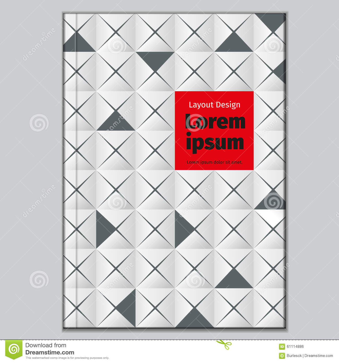 Abstract Book Cover Background ~ Vector abstract book cover template background stock