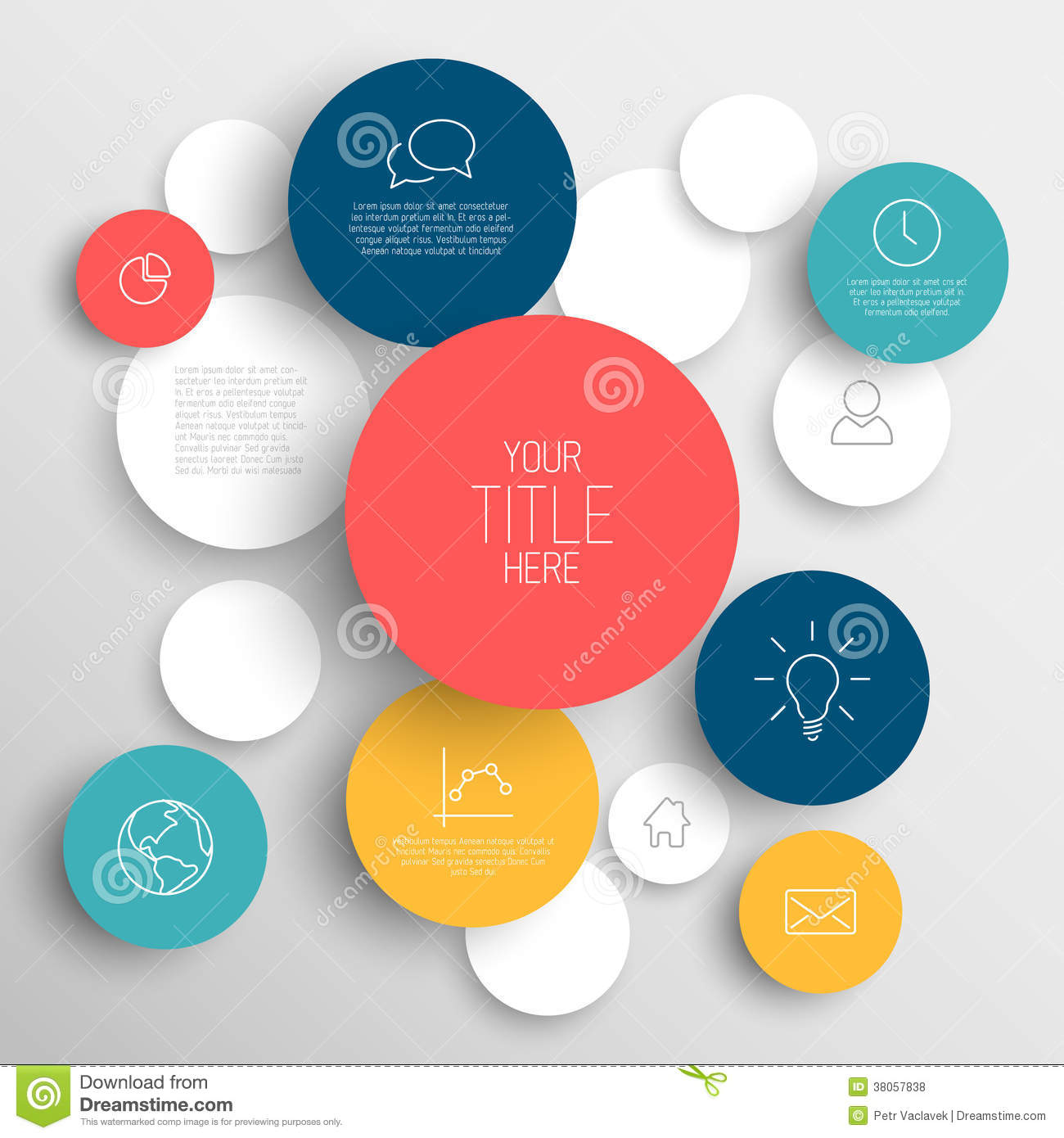 Free circle infographic template download