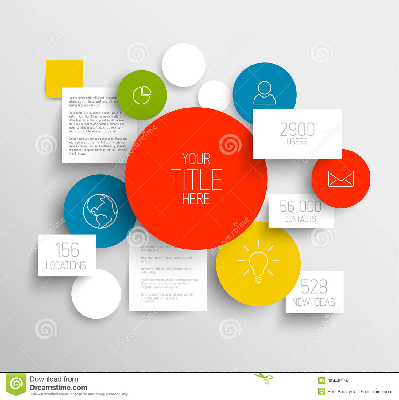 vector abstract circles and squares infographic template - Template