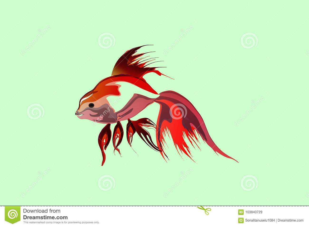 Vector Abstract Colorful Fish With Light Background Wallpaper Stock ...