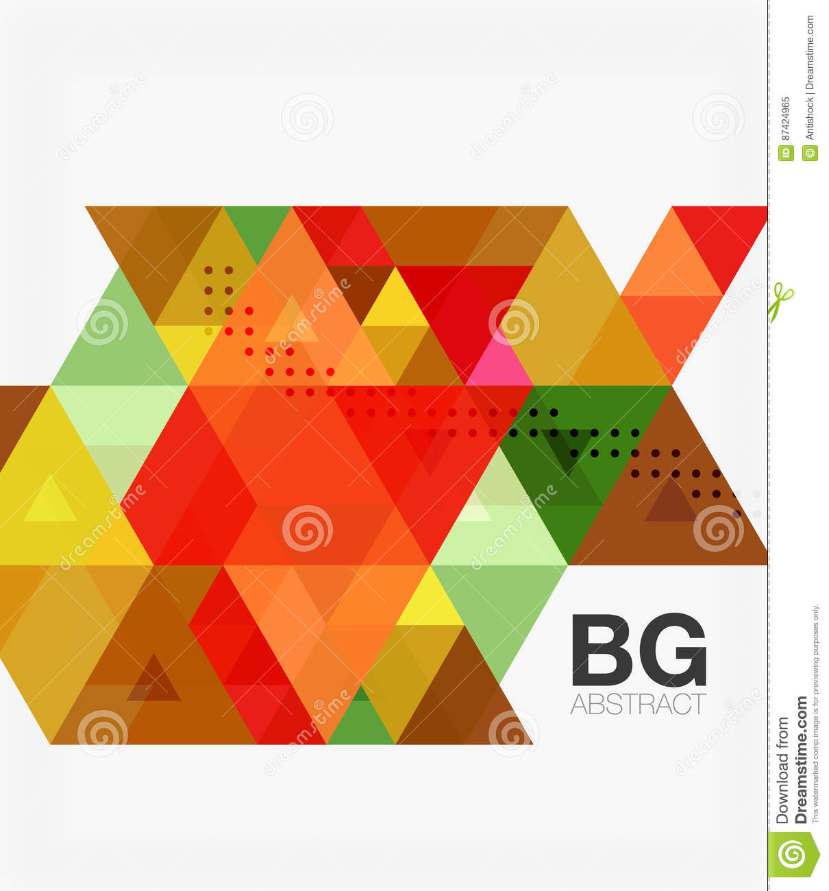 Vector Abstract Colorful Triangle Repetition Stock Illustration ...