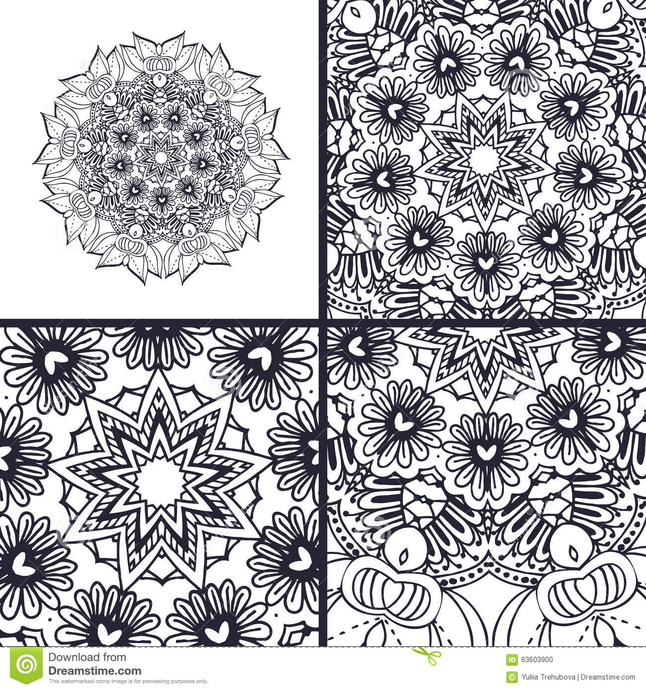 vector abstract coloring pages with mandala islam arabic