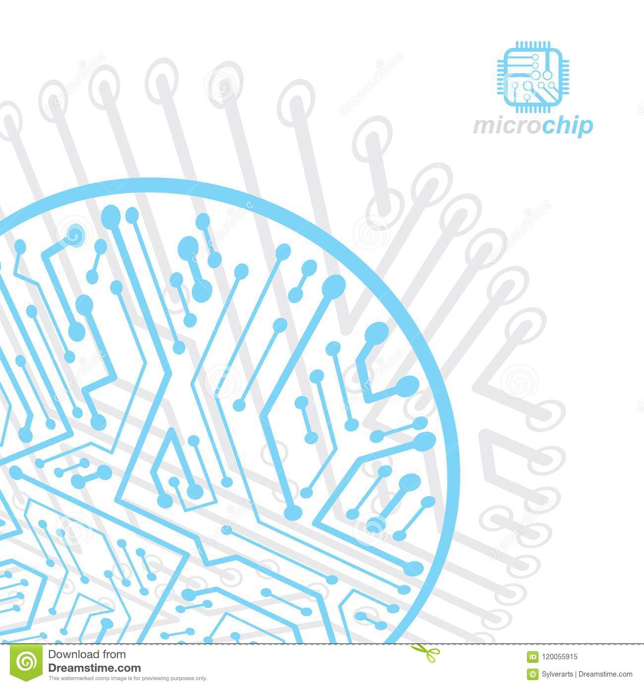 Vector Abstract Computer Circuit Board Illustration Technology