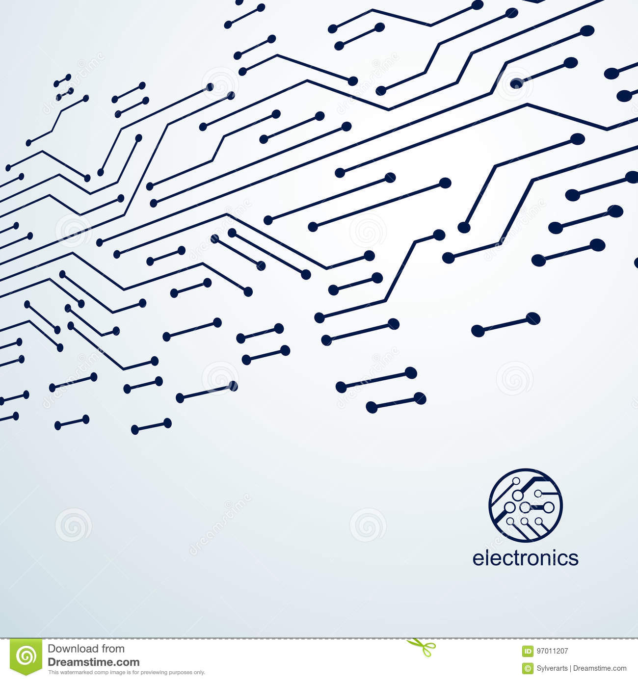 Vector Abstract Computer Circuit Board Illustration Technology Graphic Of Technological Theme And Element With Connections Electronics Web Design Modern Communication
