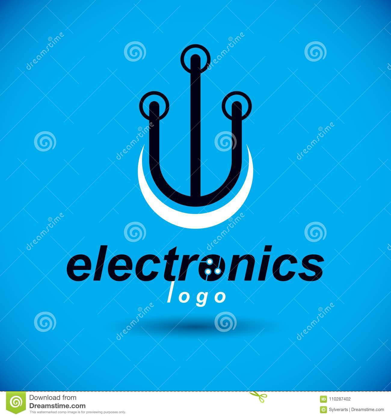Vector Abstract Computer Circuit Board Technology Element With Logo