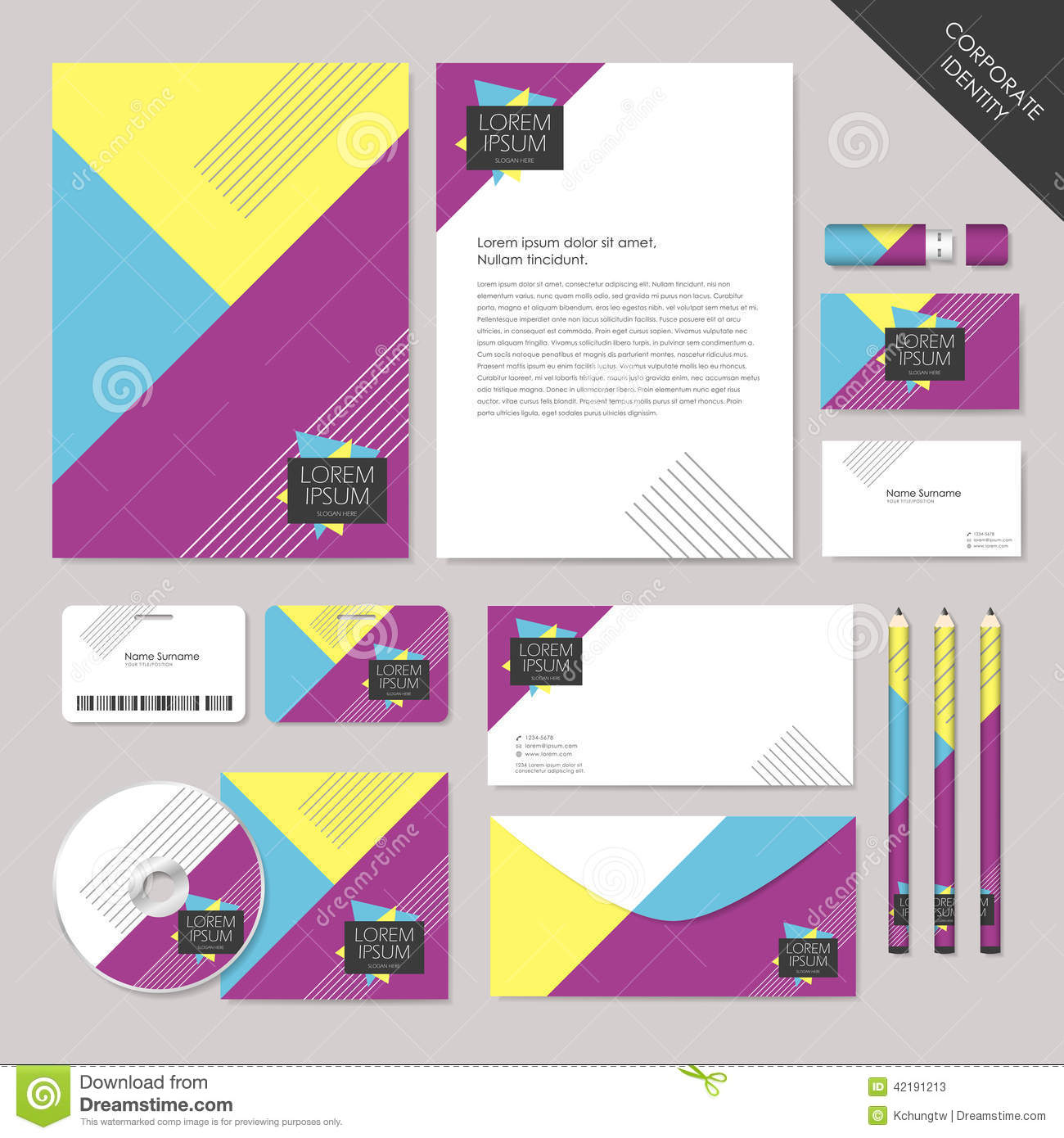 Vector Abstract Corporate Identity Set Graphic Design Stock Vector ...