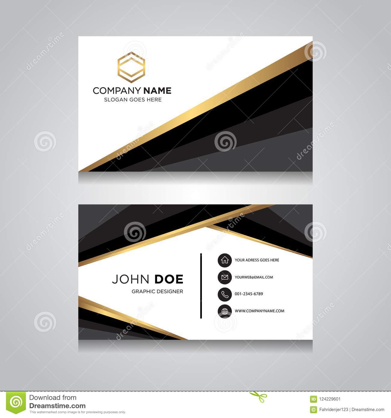 Business Card Vector Modern Design Stock Vector Illustration Of Image Fashion 124229601
