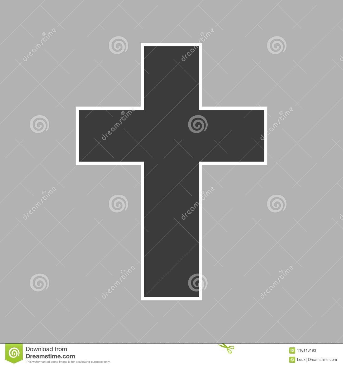 Vector Cross Icon Stock Vector Illustration Of Isolated 116113183