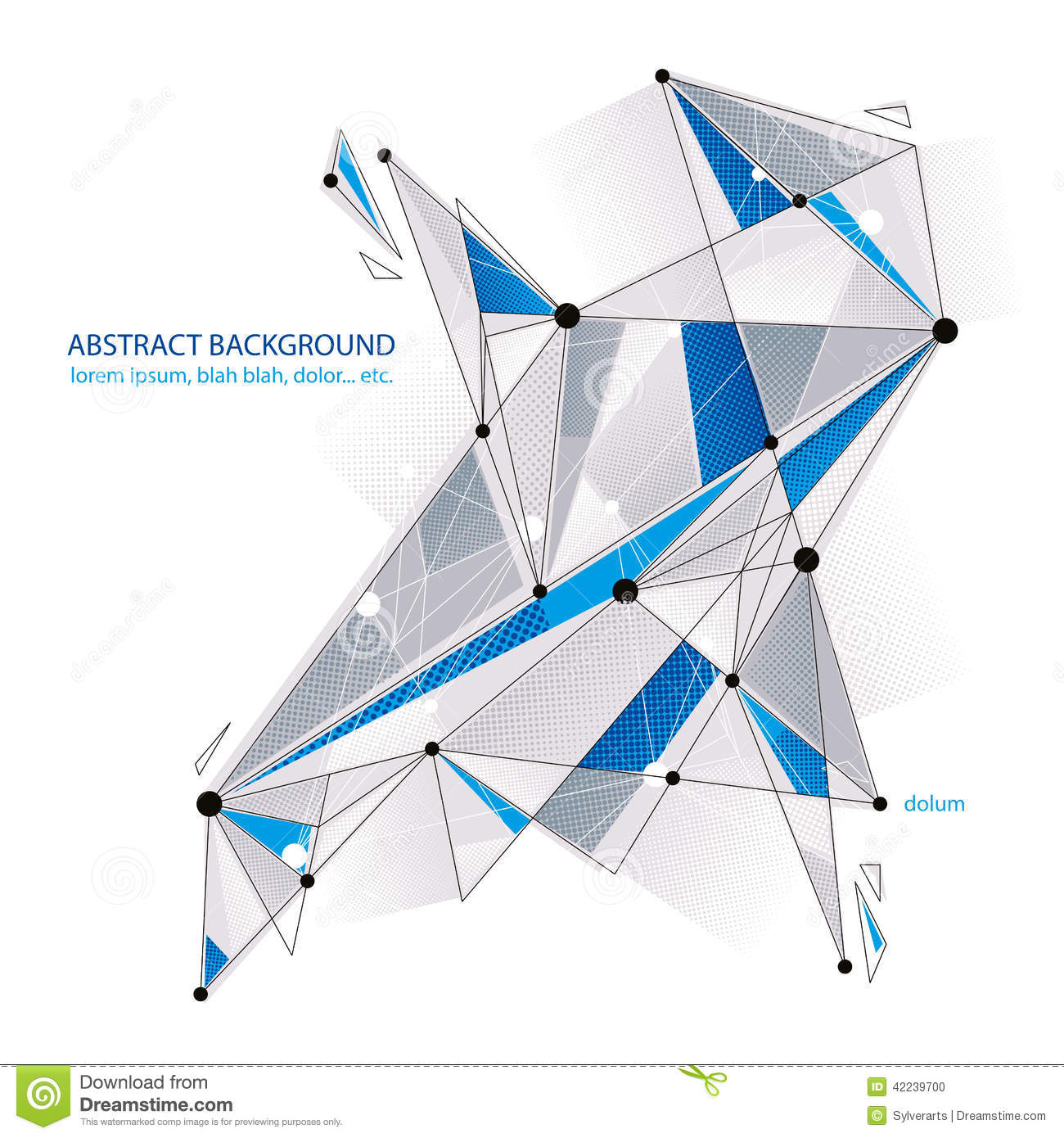 Vector Abstract 3d Mesh Object Design Element Template