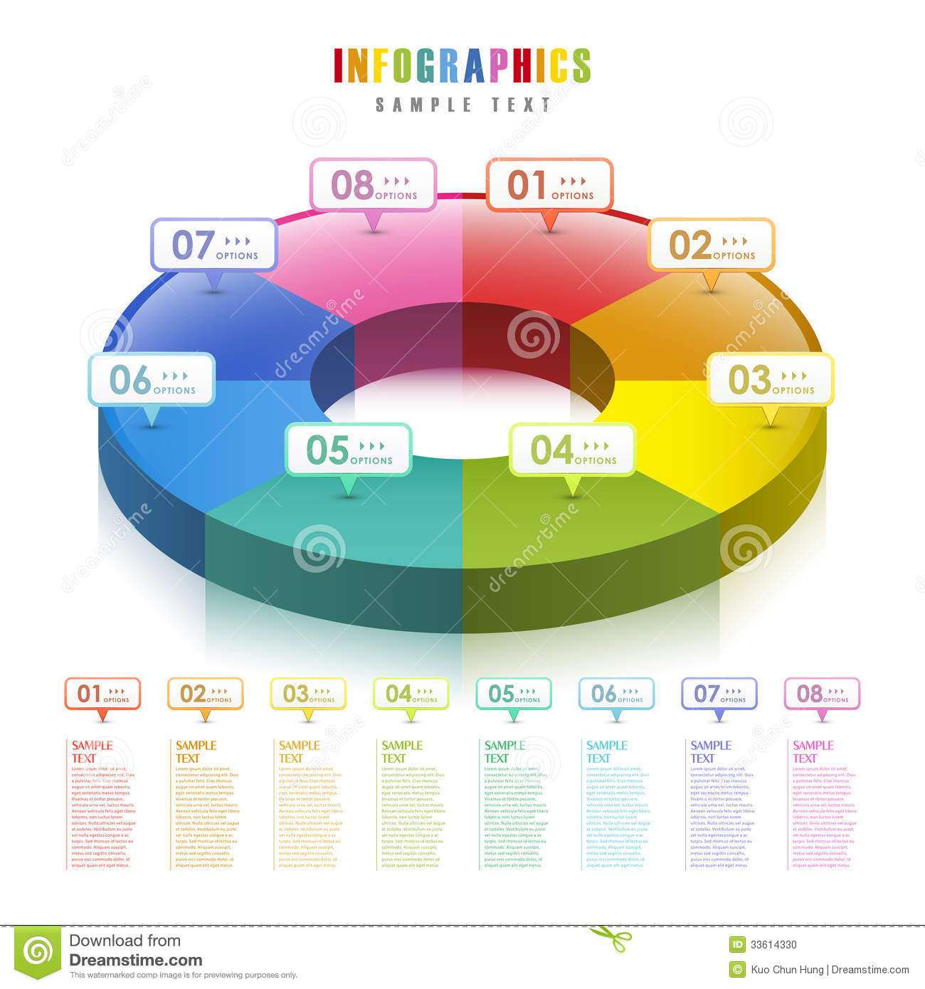 Vector abstract 3d pie chart infographics stock vector vector abstract 3d pie chart infographics nvjuhfo Choice Image