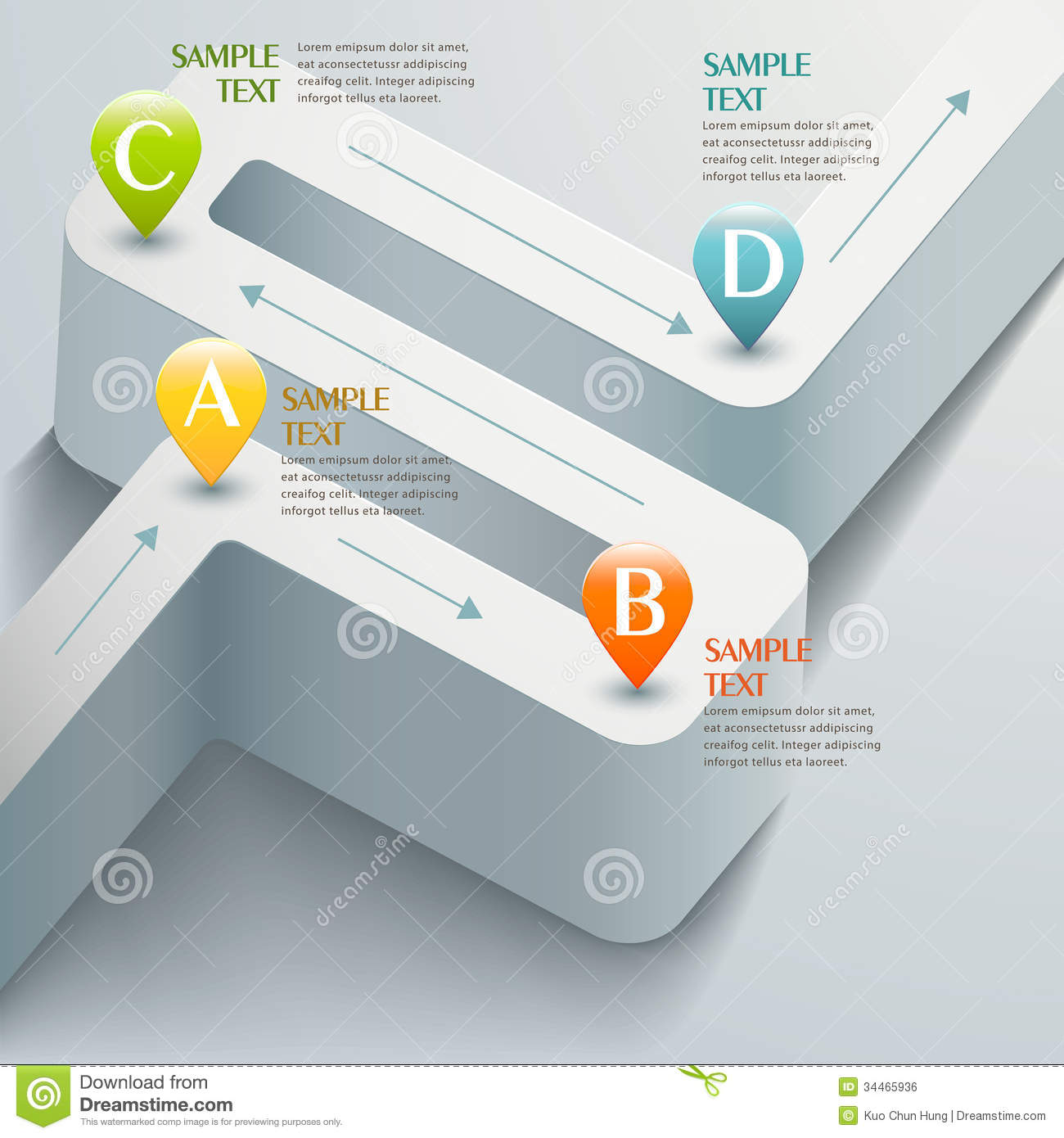 Vector Abstract 3d Road Infographics Stock Vector - Image ...