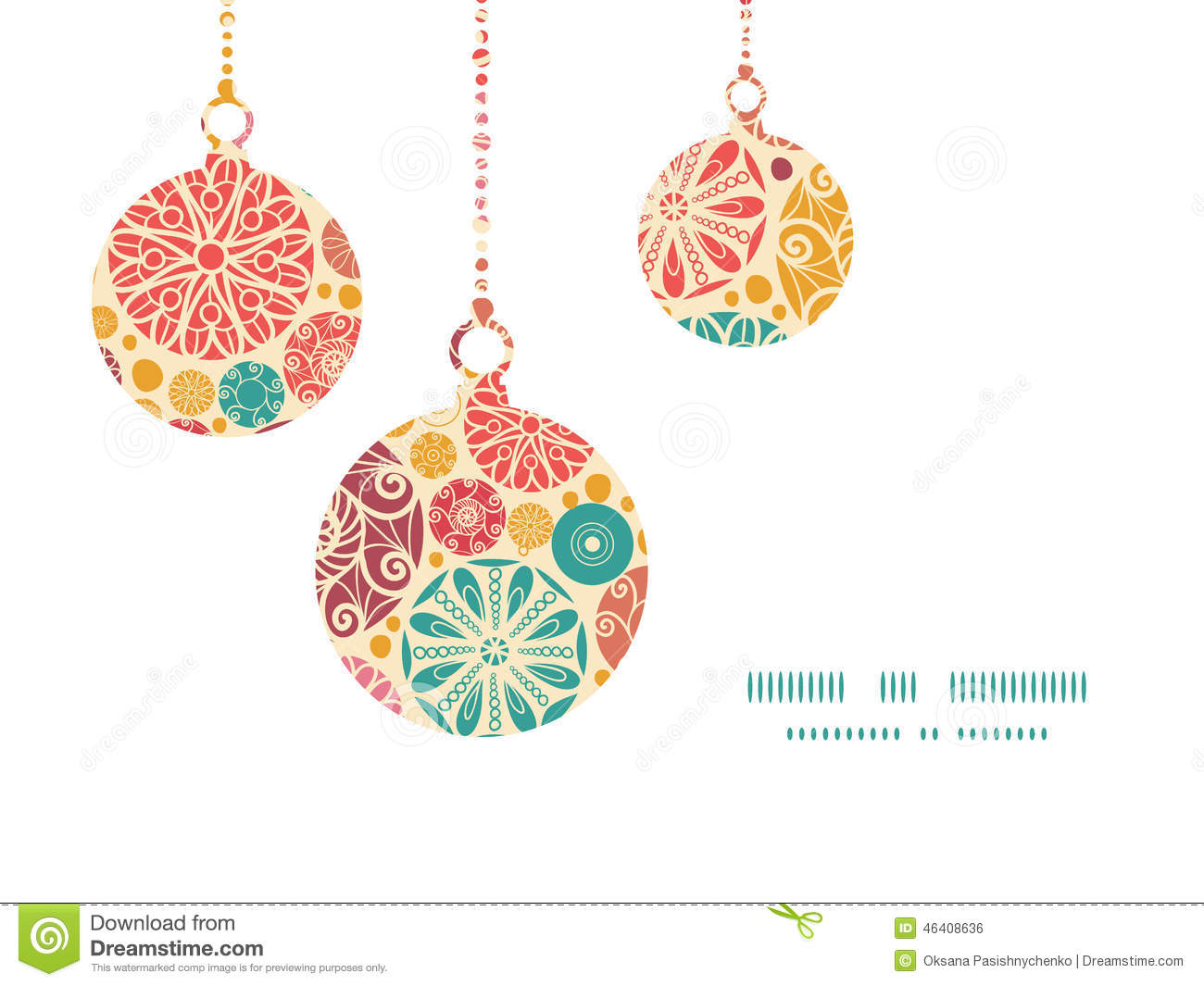 Vector abstract decorative circles christmas stock for Design ornaments