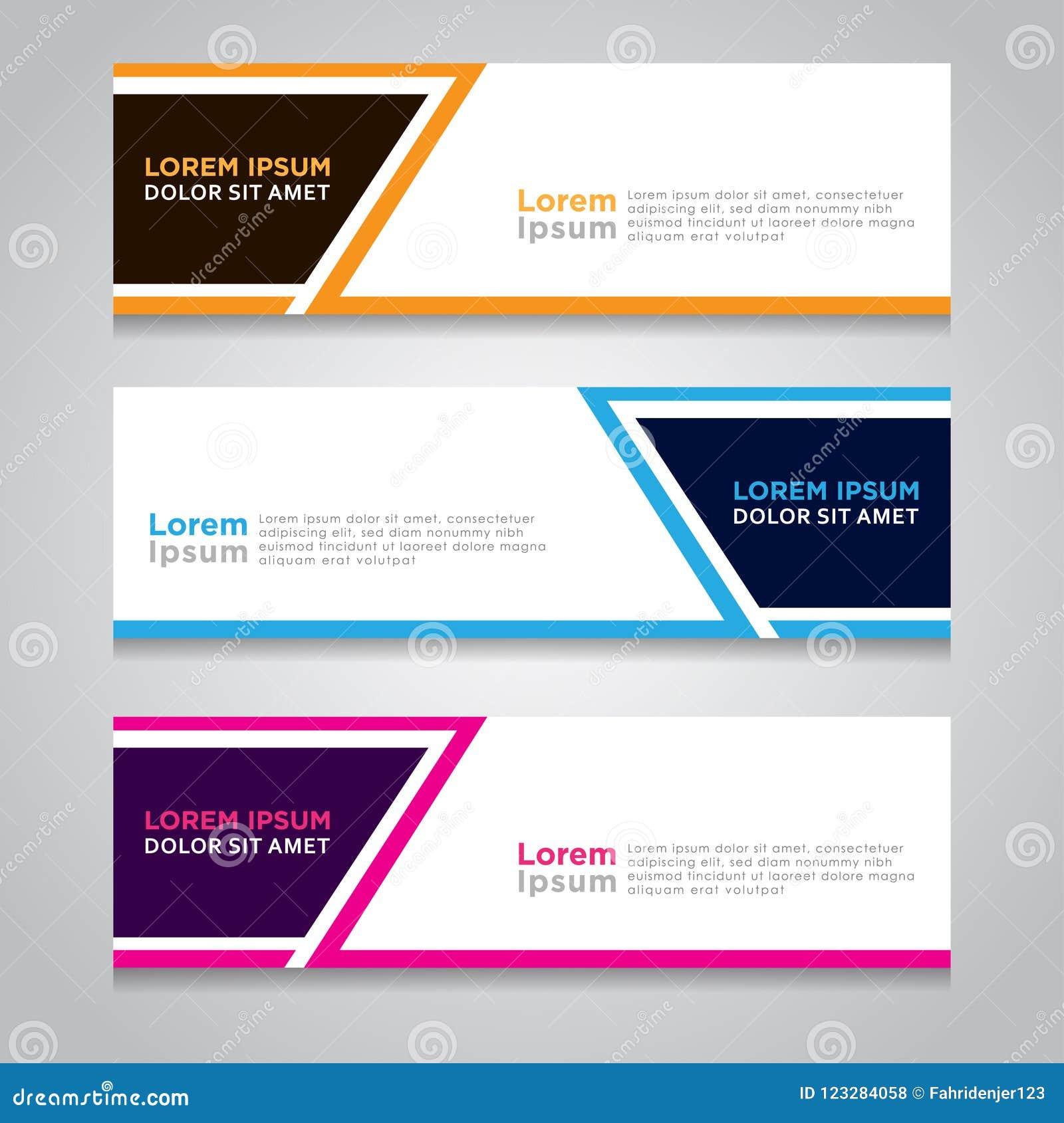Contoh Spanduk: Vector Abstract Design Banner Template. Stock Vector