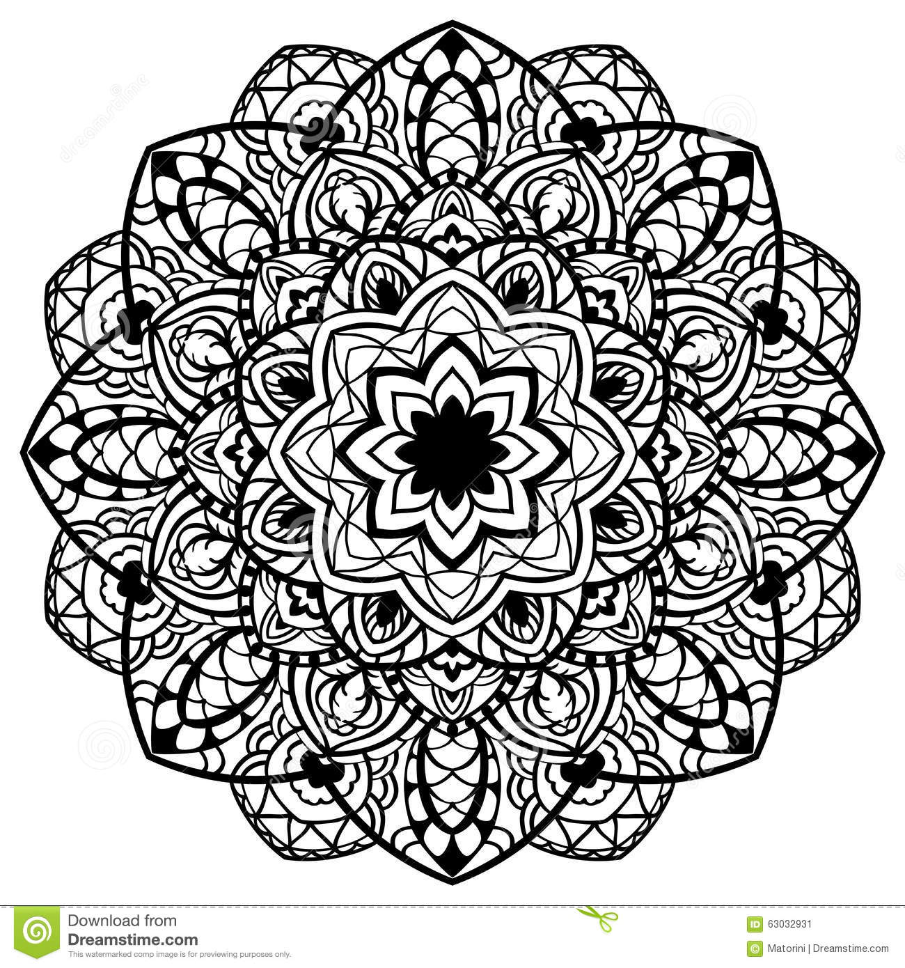 Vector Abstract Detailed Mandala Stock Vector Image