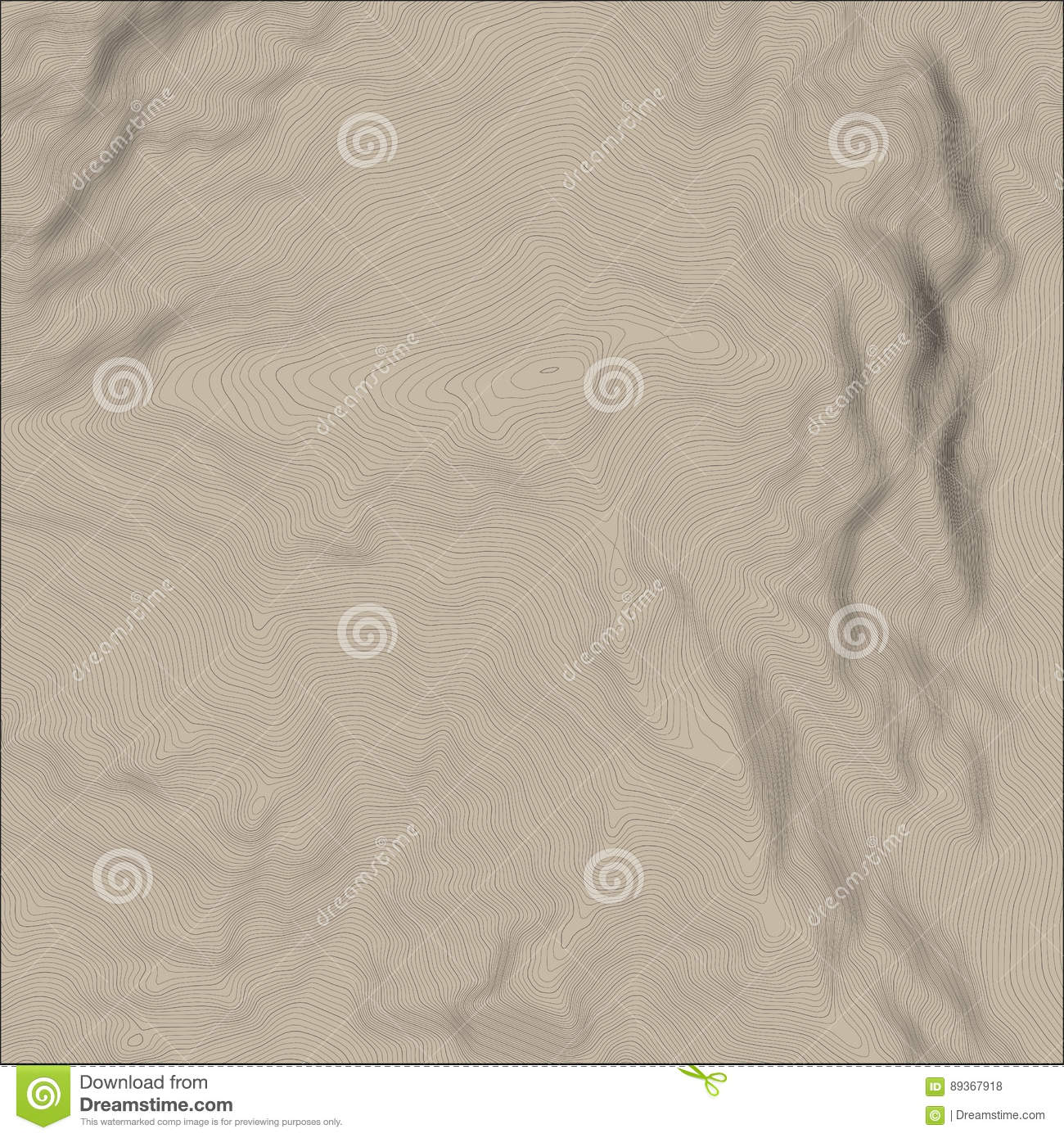 Vector Abstract Earth Relief Map Generated Conceptual Elevation Map