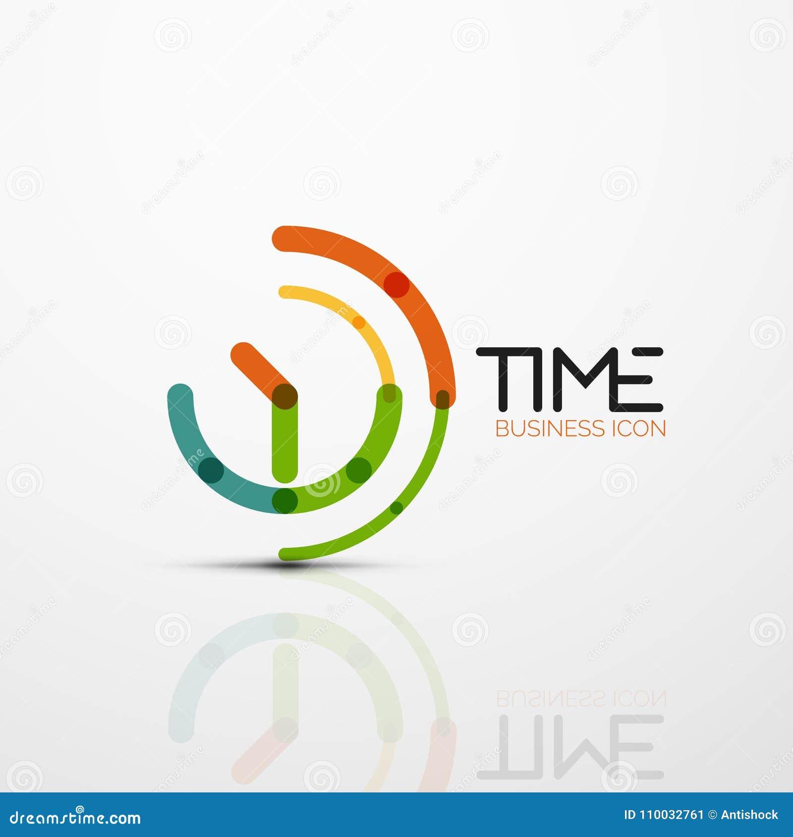 Vector abstract embleemidee, tijdconcept of klok bedrijfspictogram