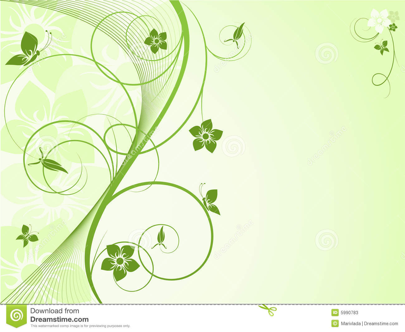 Vector Abstract Floral Background Stock Vector Illustration Of