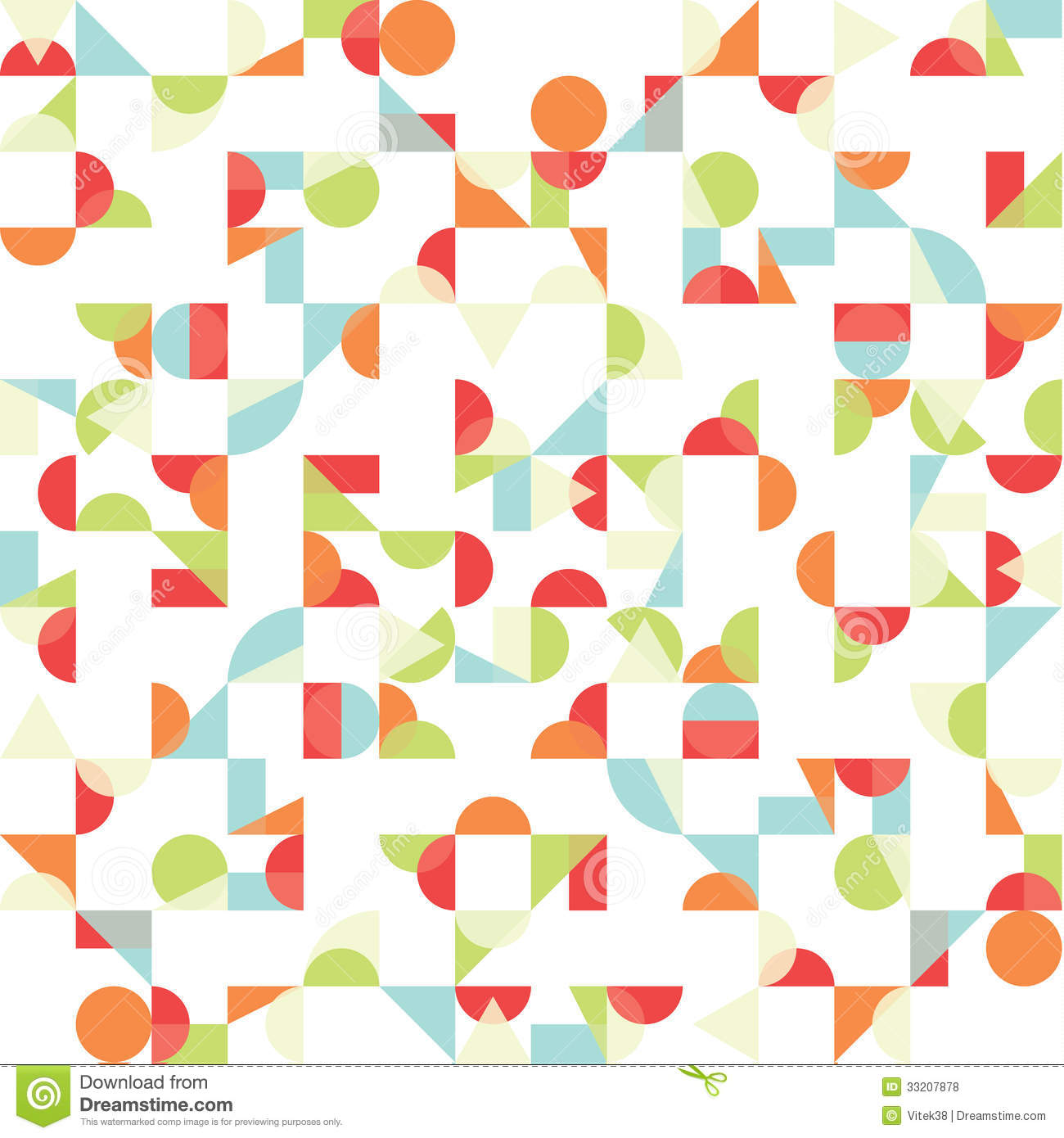 Vector Abstract Funky Background. Seamless Pattern. Stock ...
