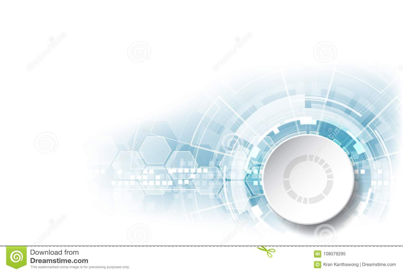 Vector Abstract Futuristic Circuit Board Illustration High