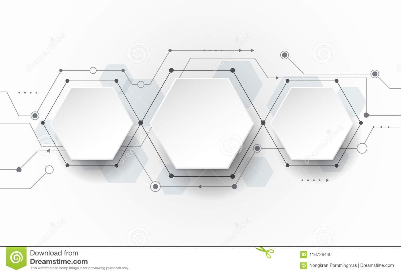 Vector Abstract Futuristic Circuit Board On Light Gray Background Diagram With Labels Hi Tech Digital Technology Concept