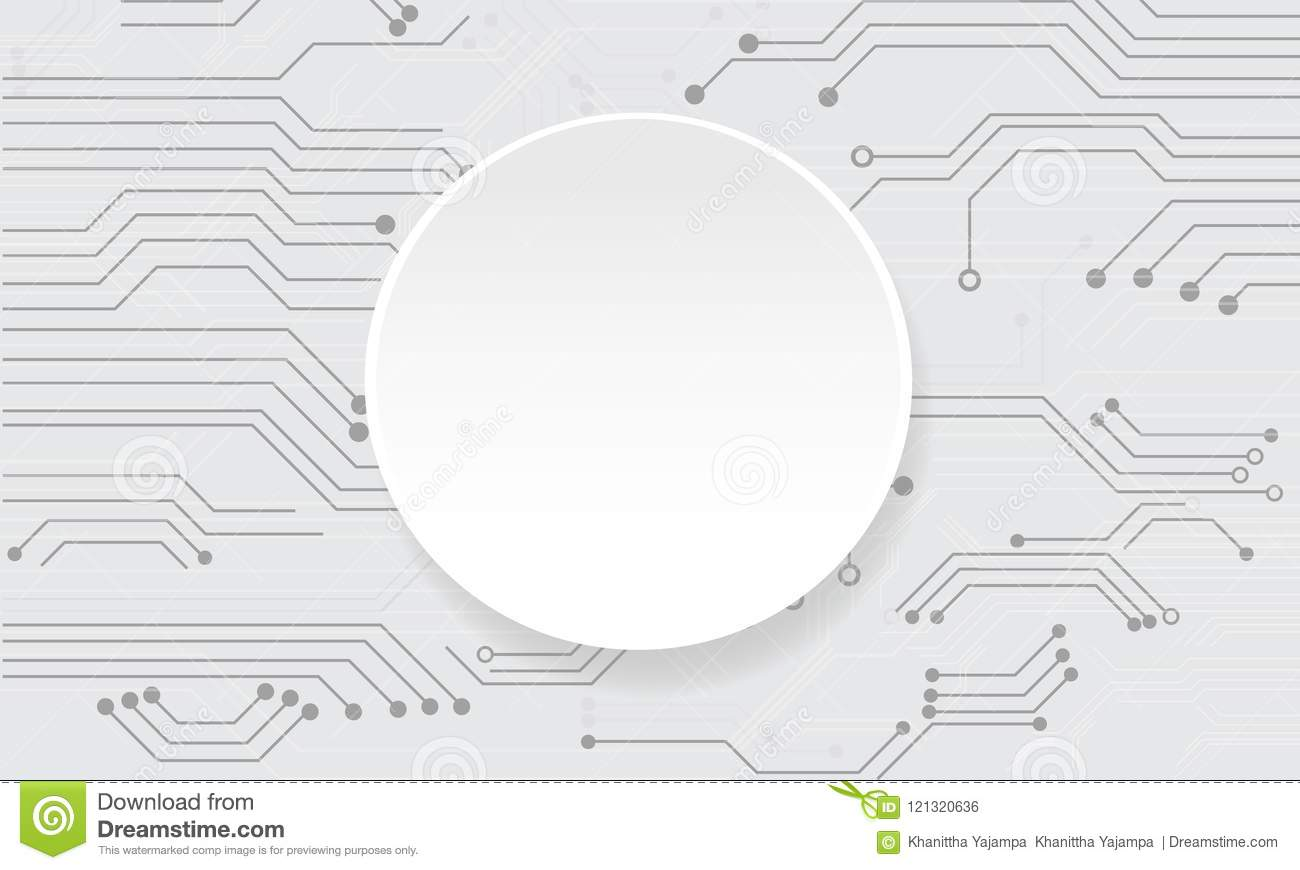 Vector abstract futuristic circuit board on white background.
