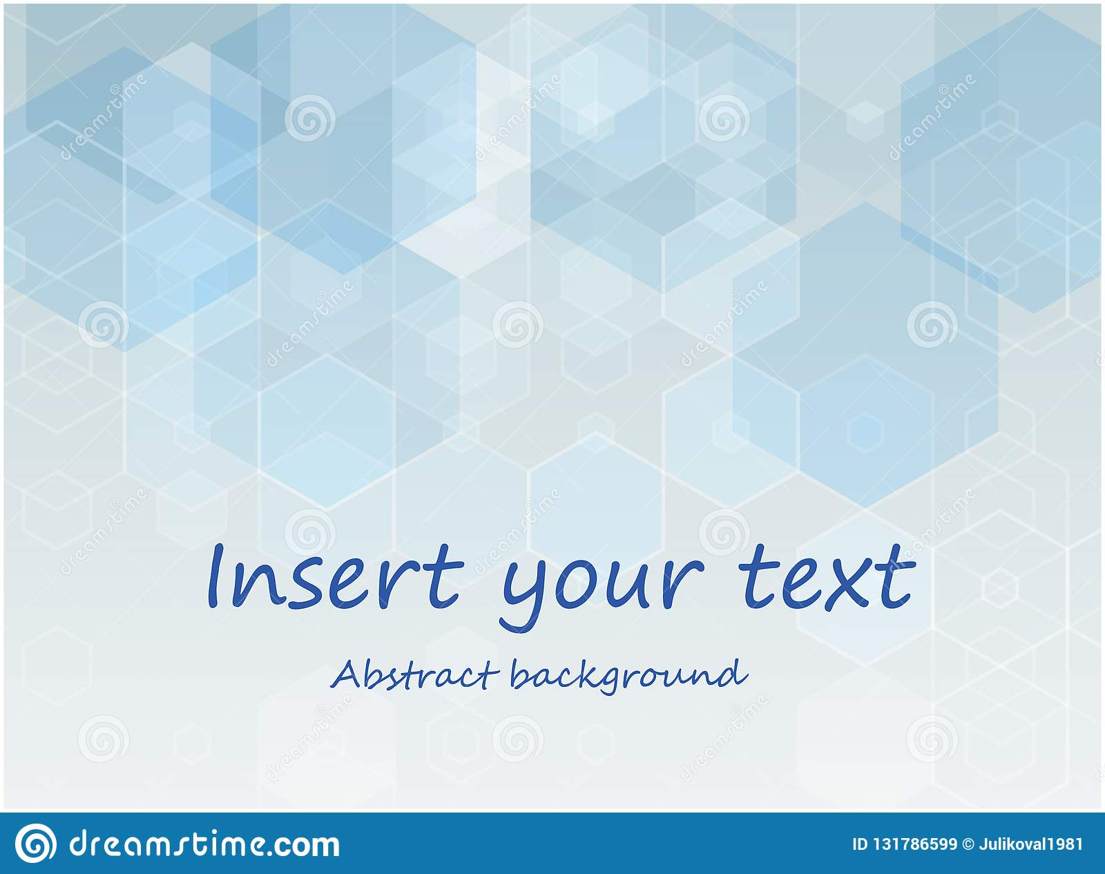 Vector Abstract geometric background. Brochure template design. Blue hexagonal shape. Geometric hexagon design.