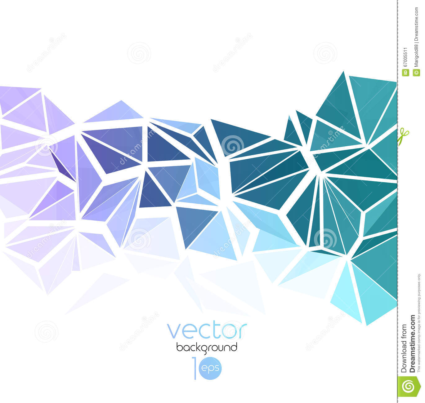 Vector Abstract Geometric Background With Triangle Stock