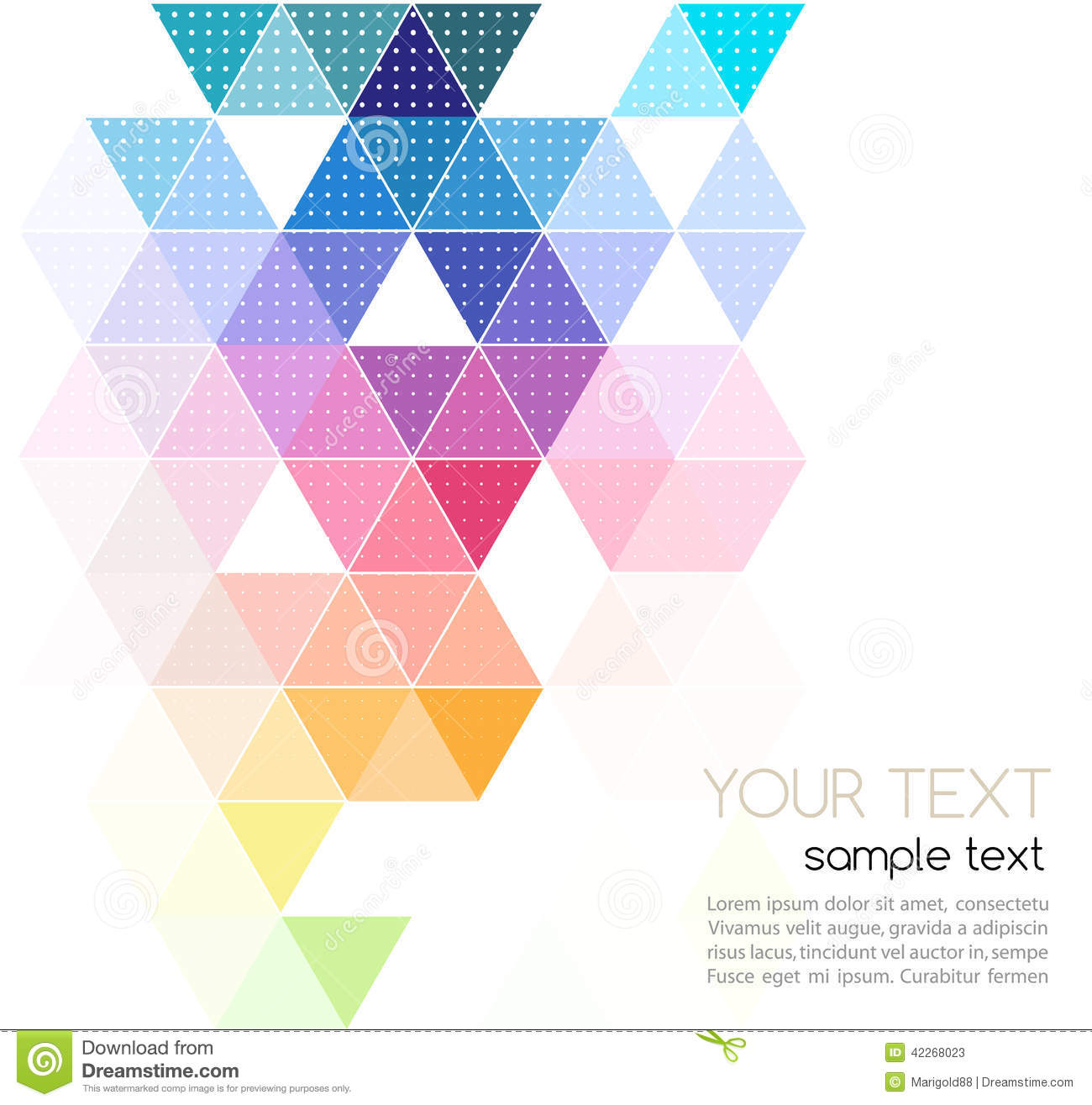 Vector Abstract Geometric Banner With Triangle Stock Vector