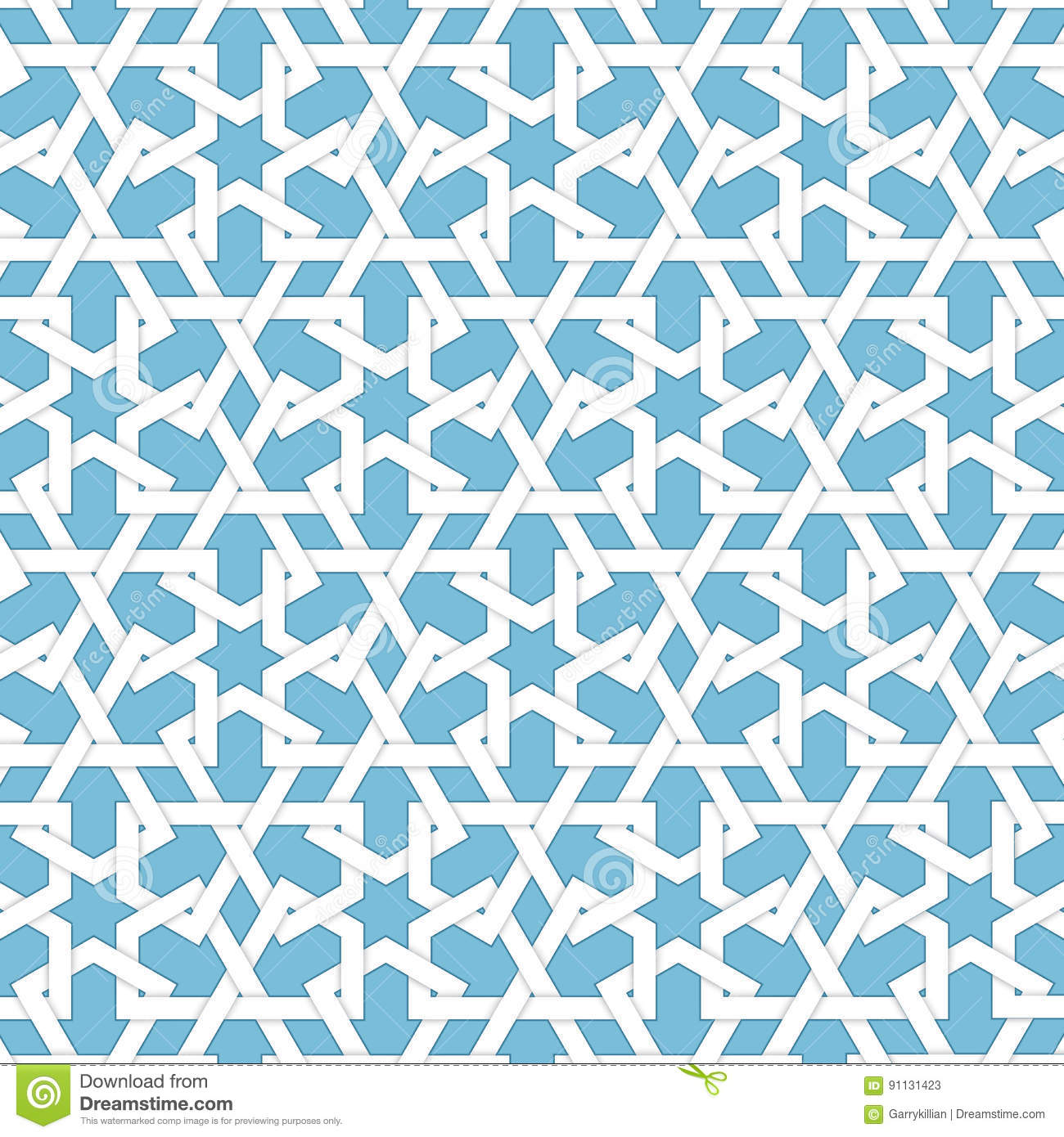 Vector Abstract Geometric Islamic Background Based On