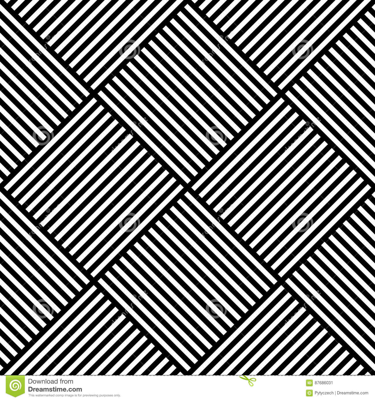 Designs With Lines : Black vector geometric texture with crossed lines cartoon