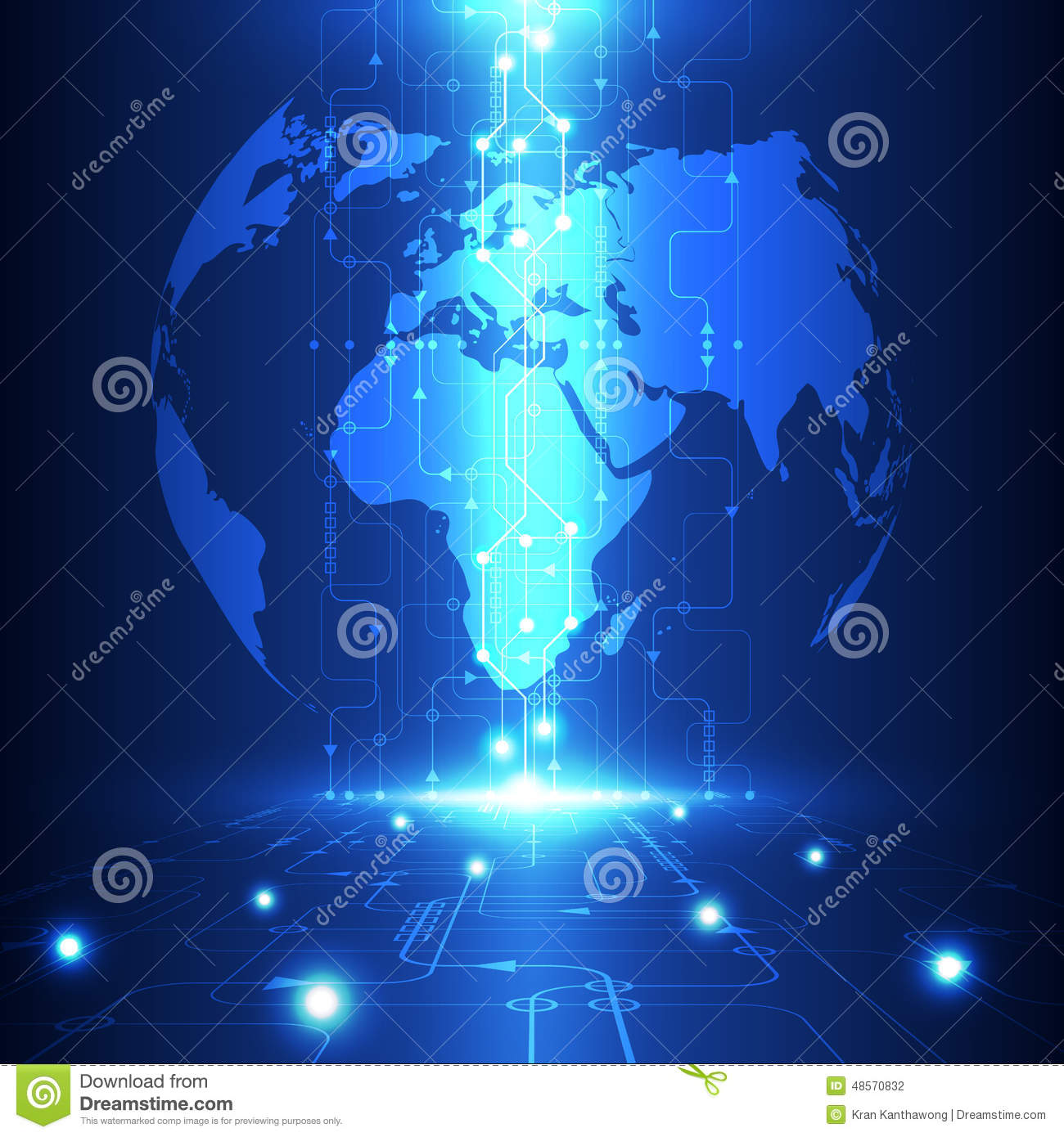 Vector abstract global future technology, electric telecom background