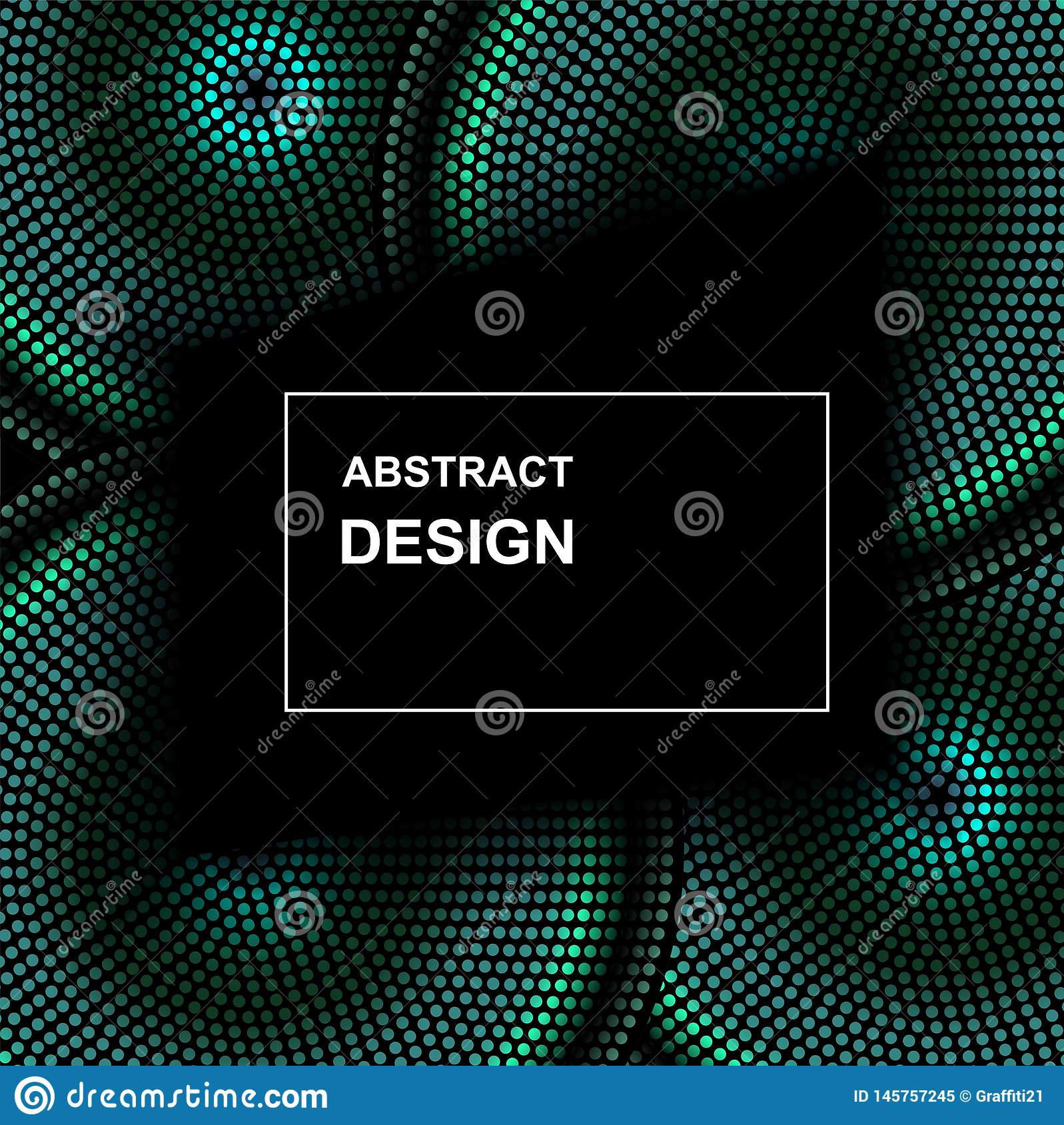 Vector abstract halftone circle frame. Abstract dotted gradient logo design elements. Grunge halftone textured pattern with dots
