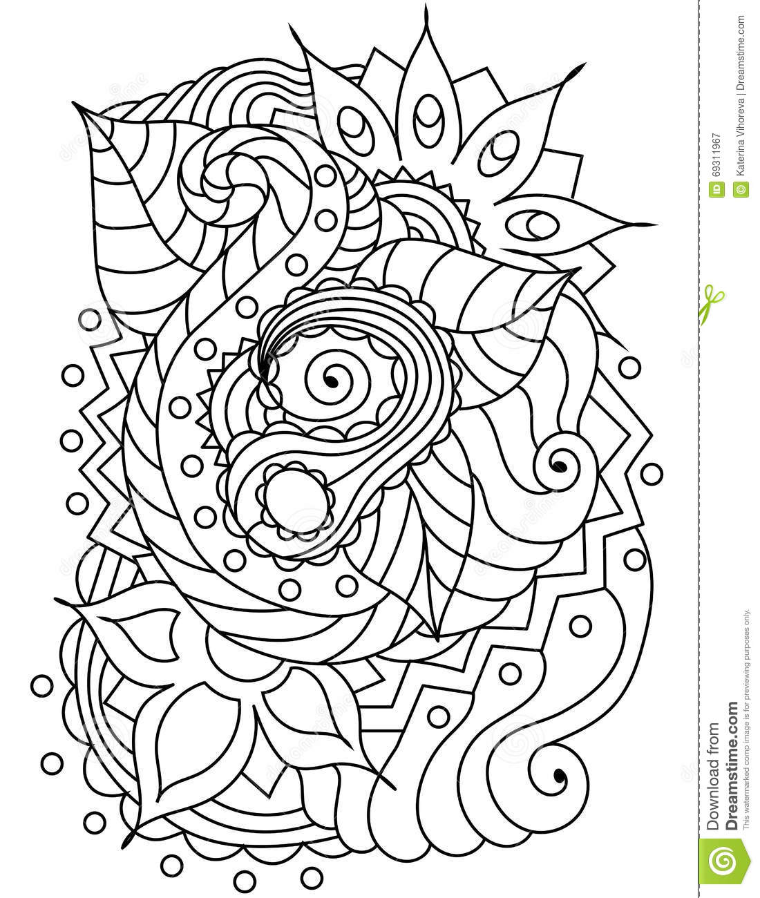 Vector Abstract Handdrawn Floral