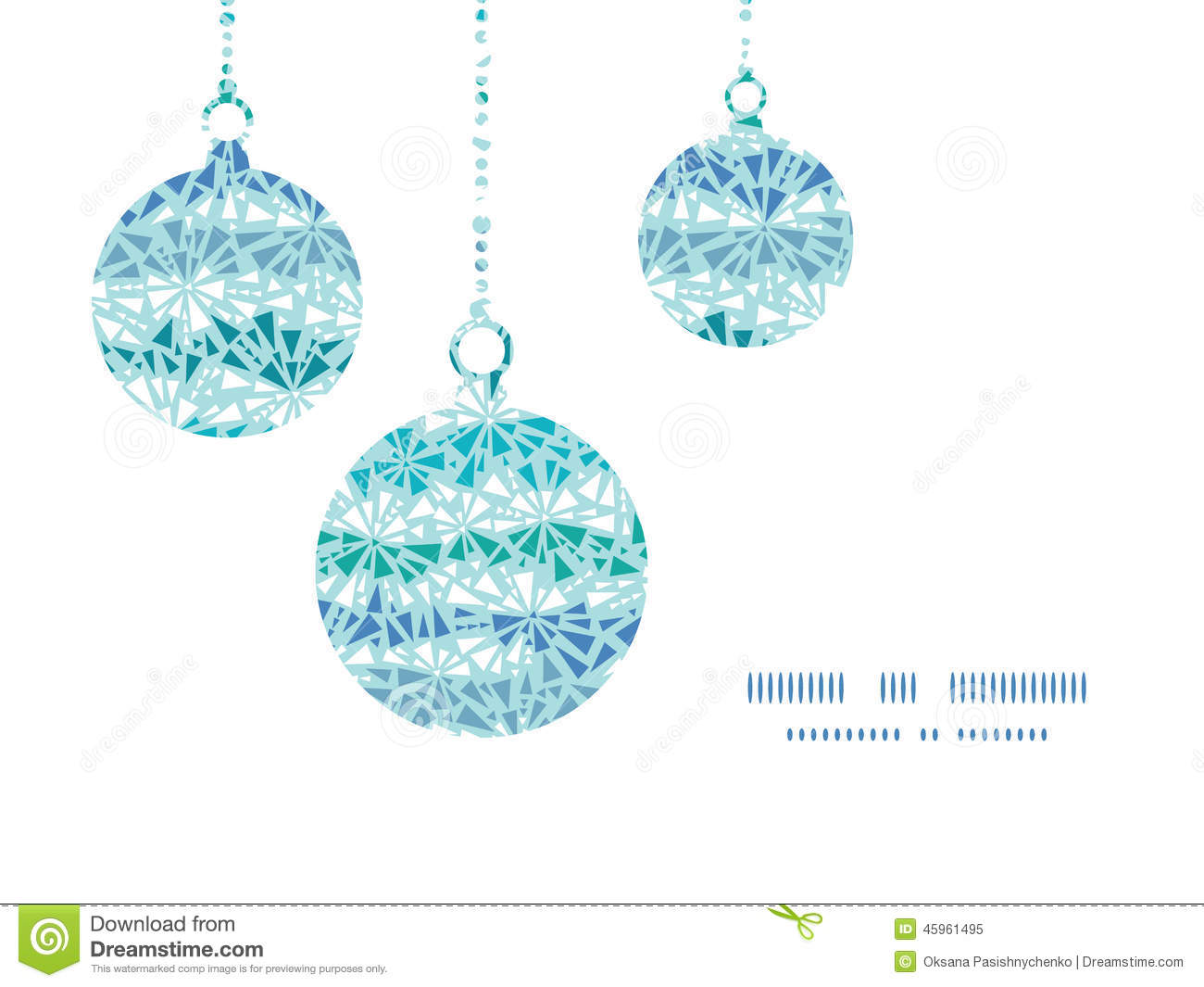 Vector abstract ice chrystals texture Christmas ornaments silhouettes ...