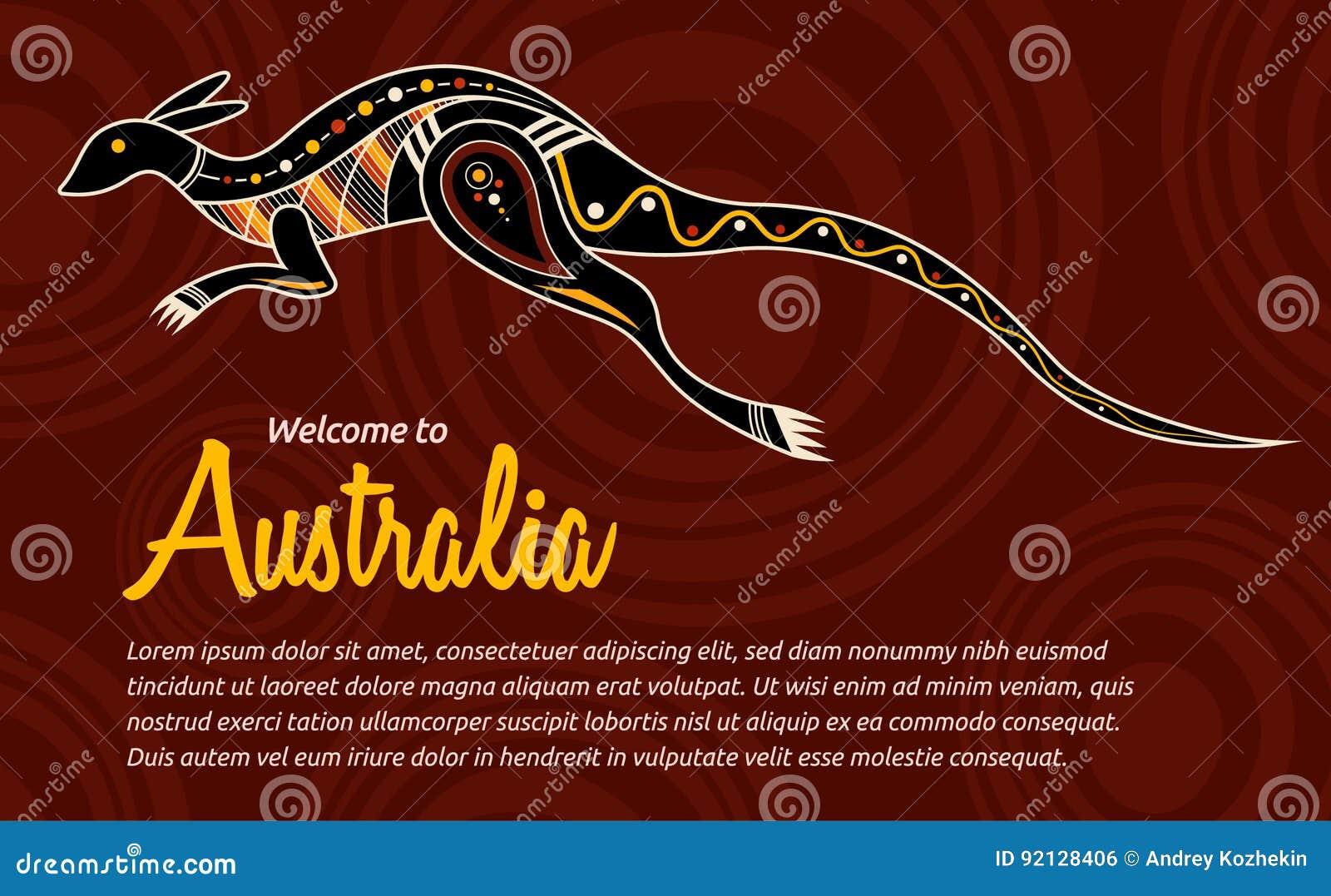vector abstract illustration kangaroo stock vector illustration