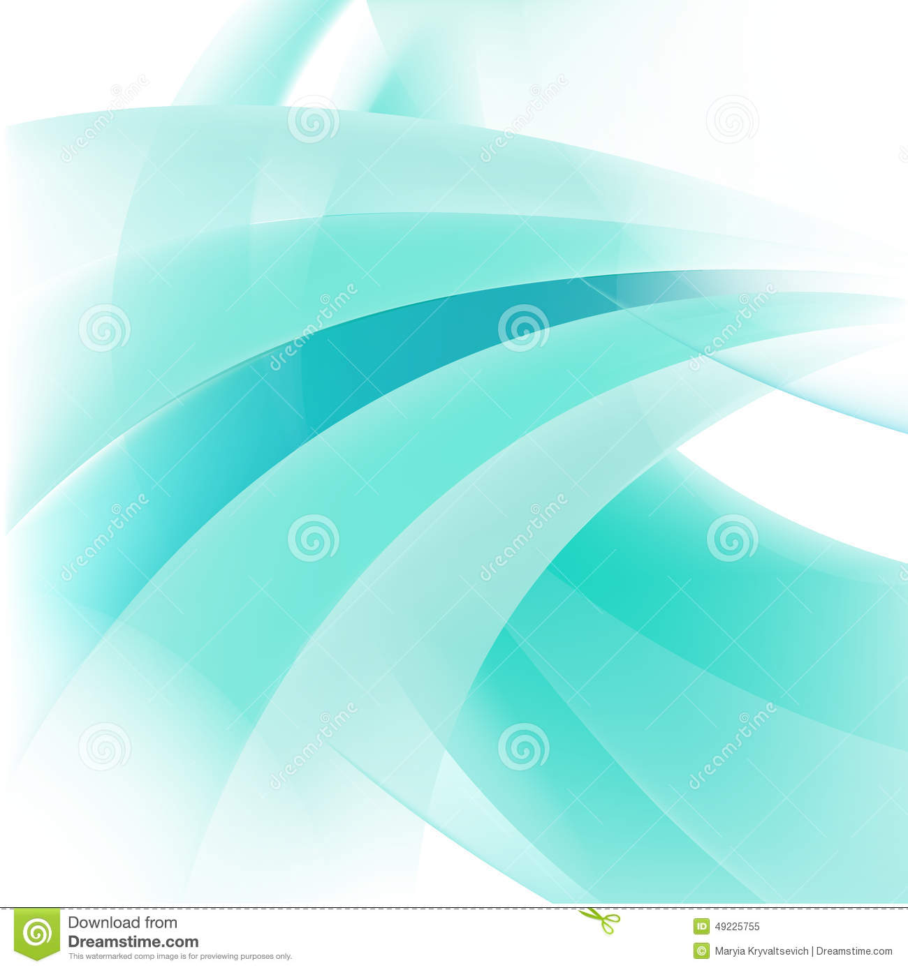 Vector abstract line green background