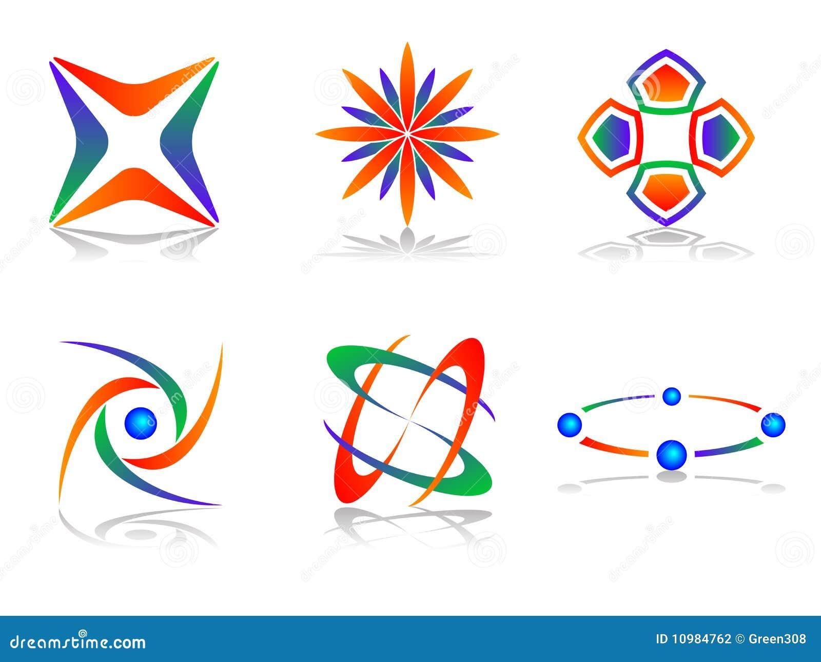 Vector abstract logo icon design set stock photography for Decor logo