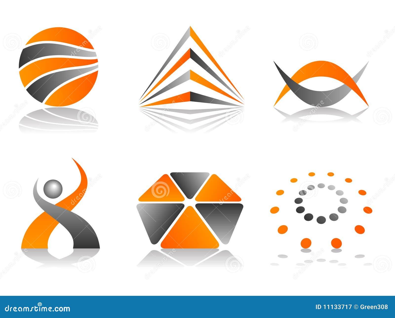 vector abstract logo icon design set stock vector illustration of