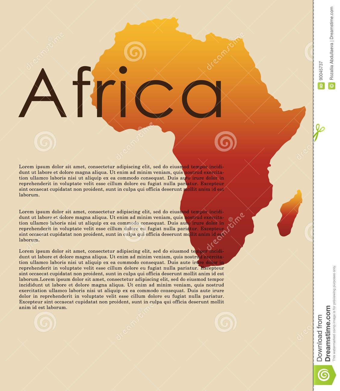 Vector Abstract Map Of Africa Stock Vector Illustration Of