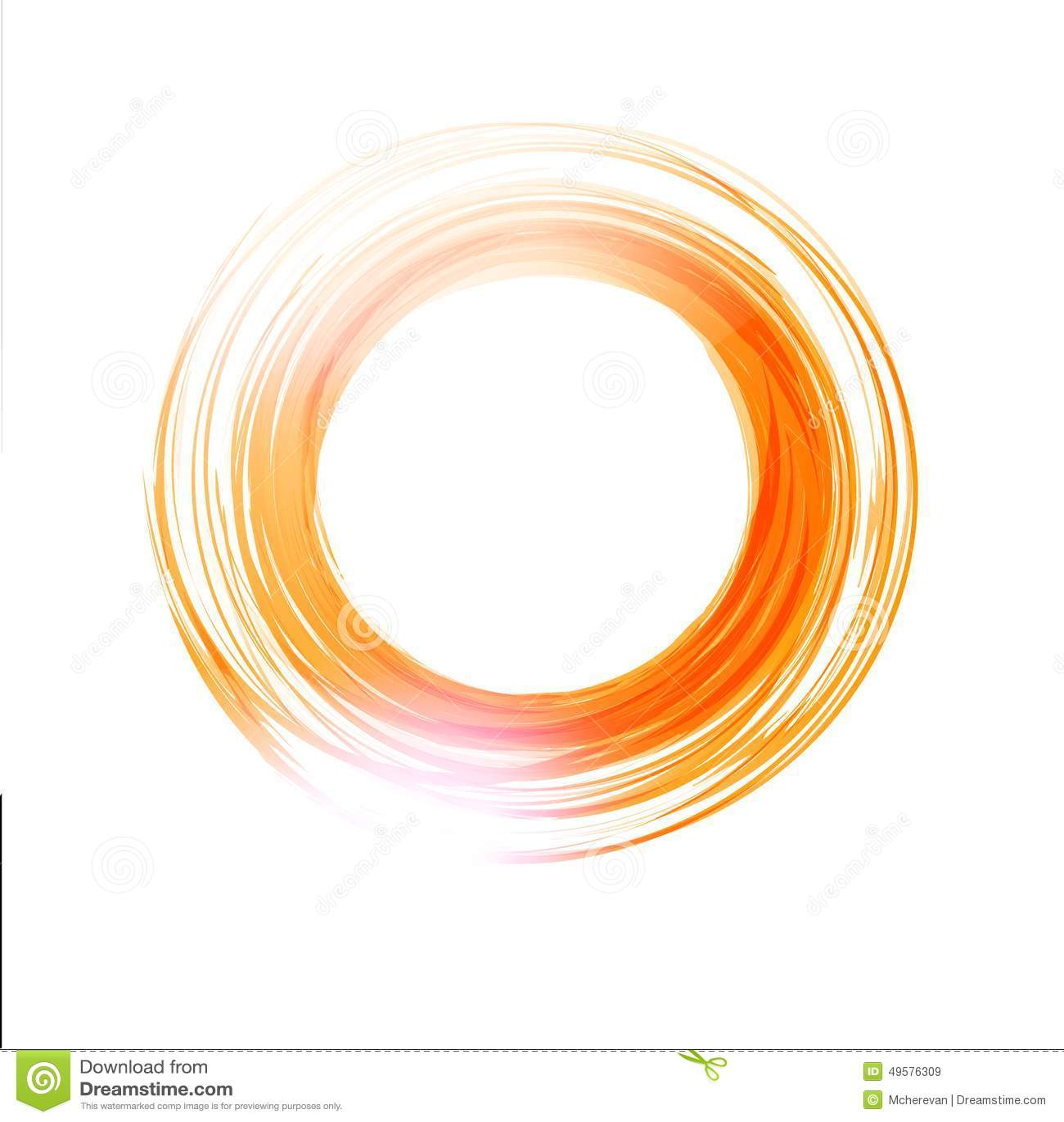Floor Planner Free Vector Abstract Orange Circle Logo Design Template