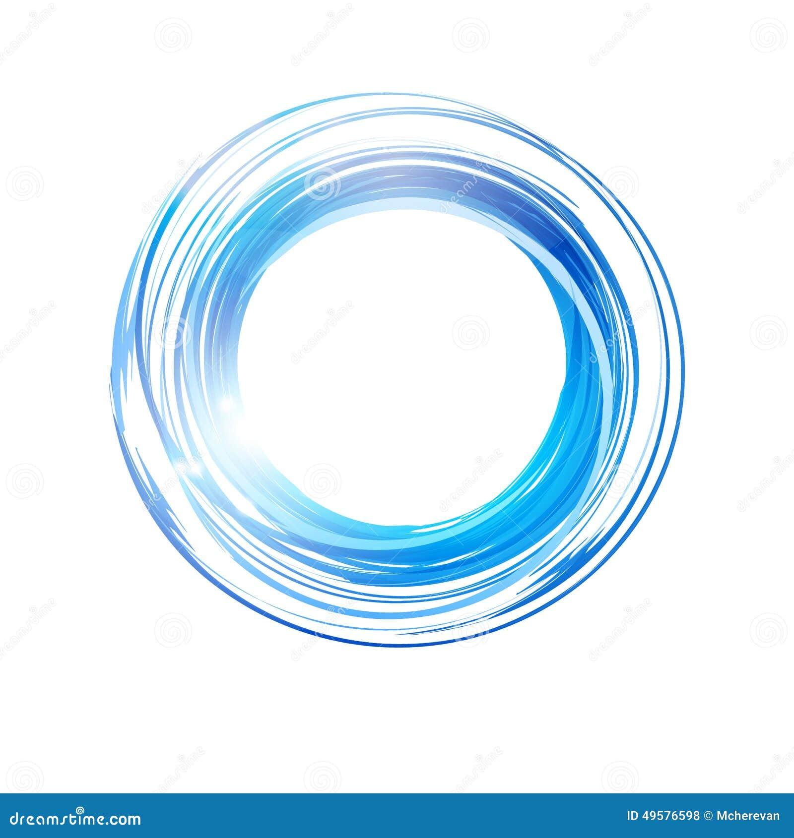 Vector Abstract Orange Circle. Logo Design Template . Stock ...