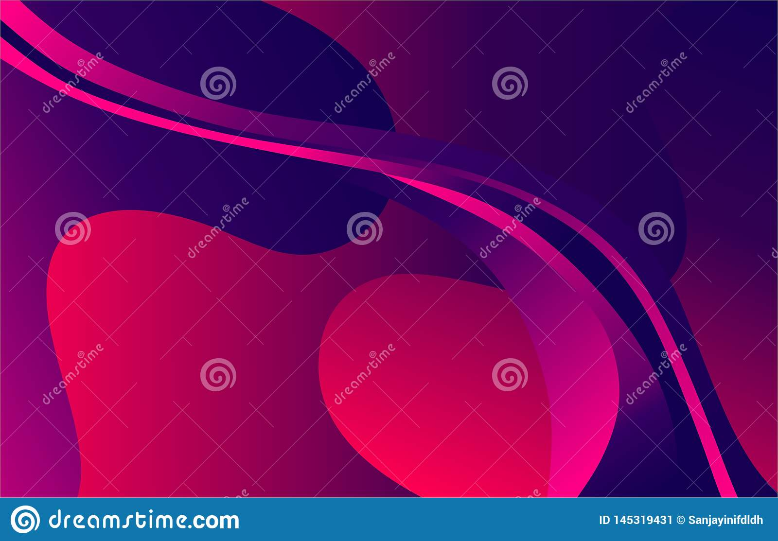 Vector Abstract Pink and Blue color wave Background,wallpaper