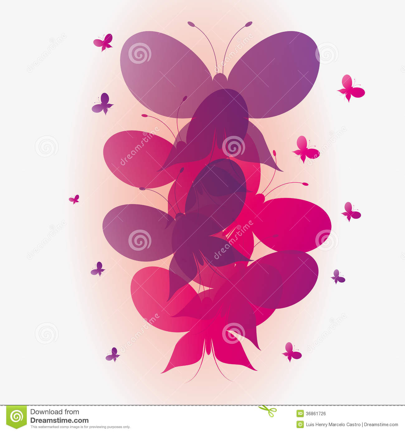 Pink butterfly vector background hd wallpapers pink butterfly vector - Vector Abstract Pink And Purple Butterflies Background Royalty Free Stock Image